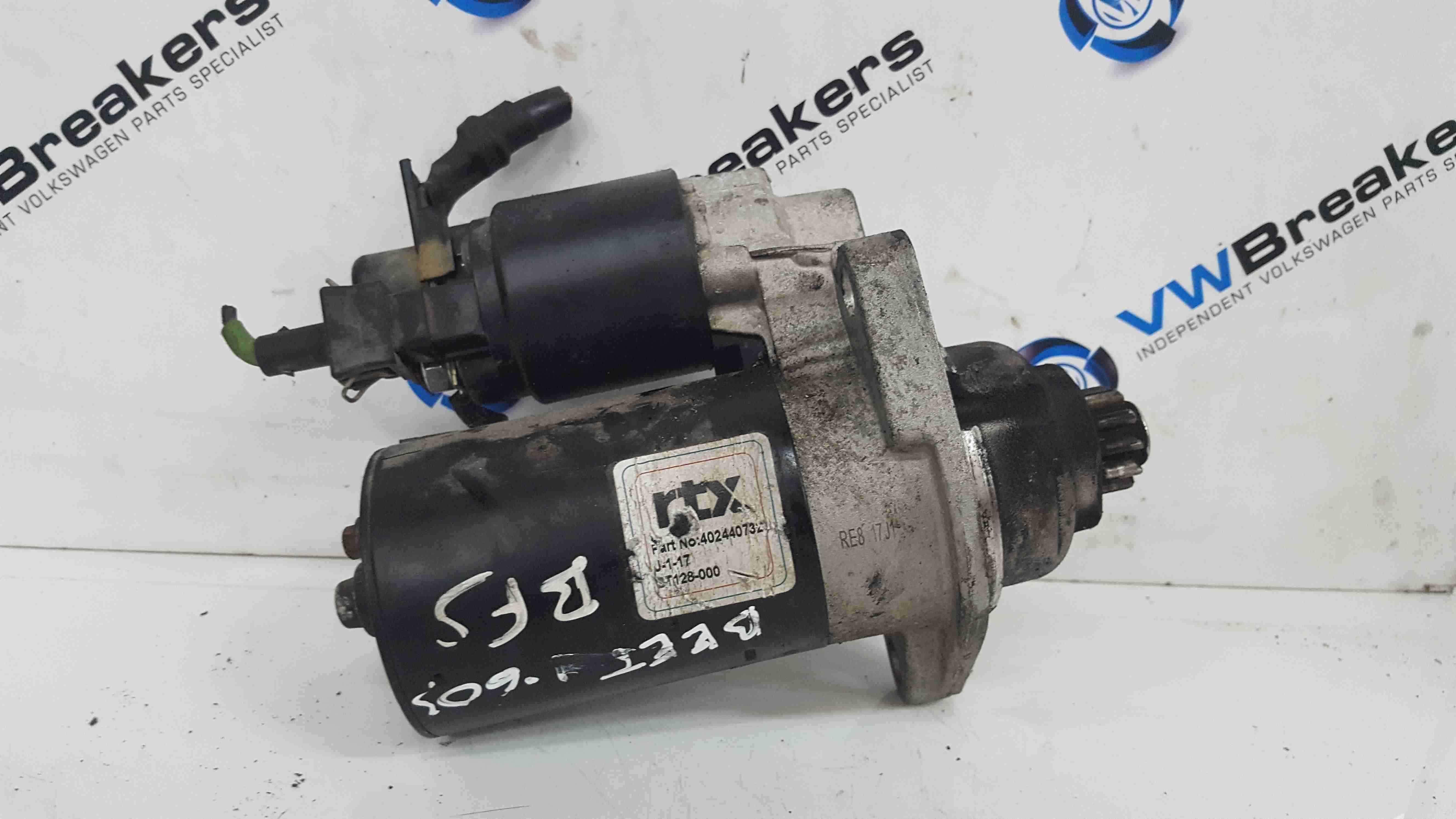 Volkswagen Beetle 1998-2006 1.6 8v Starter Motor RTX 402440732