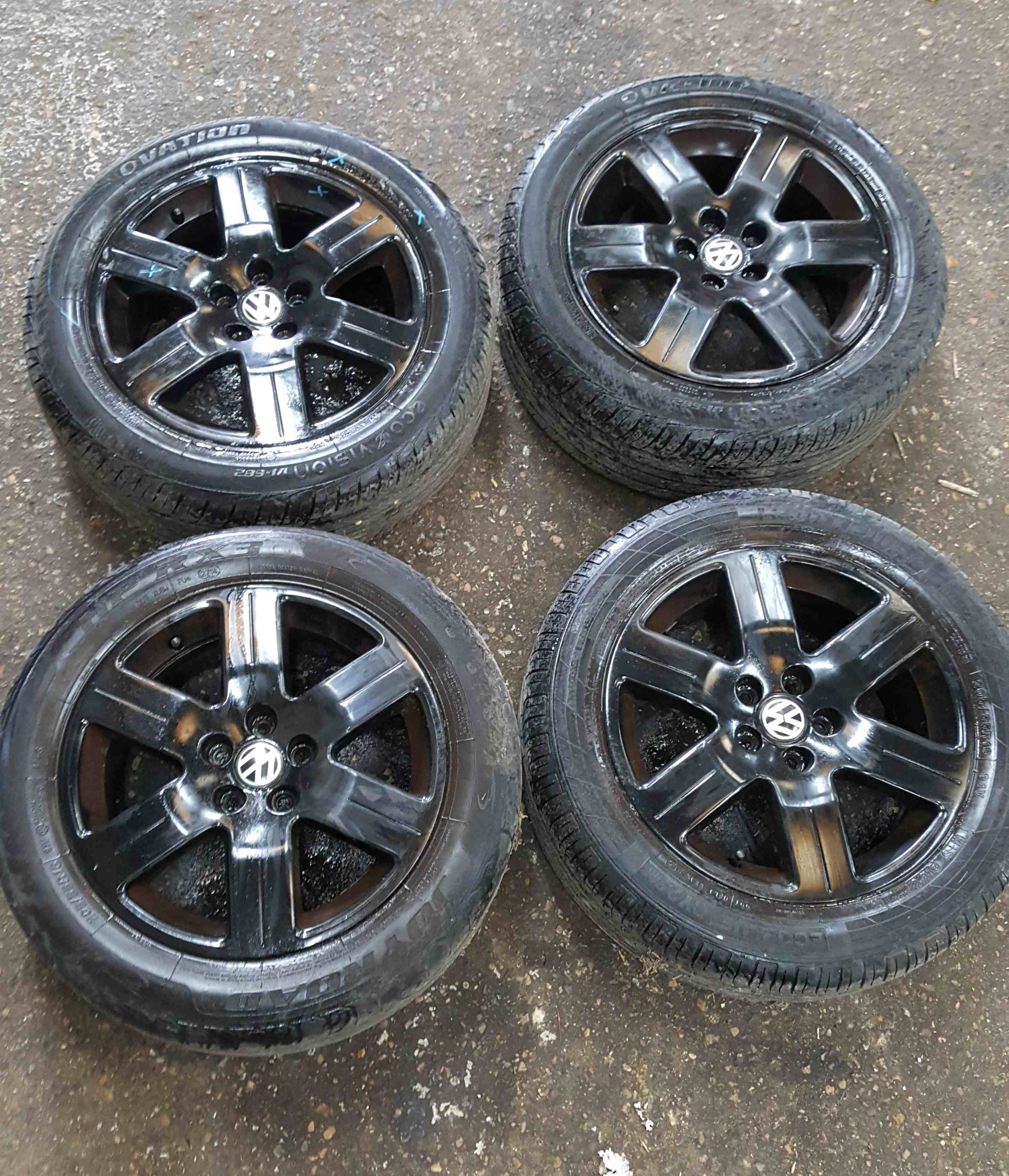 Volkswagen Beetle 1998-2006 Alloy Wheels Set Black 16inch X4 1C0601025AJ