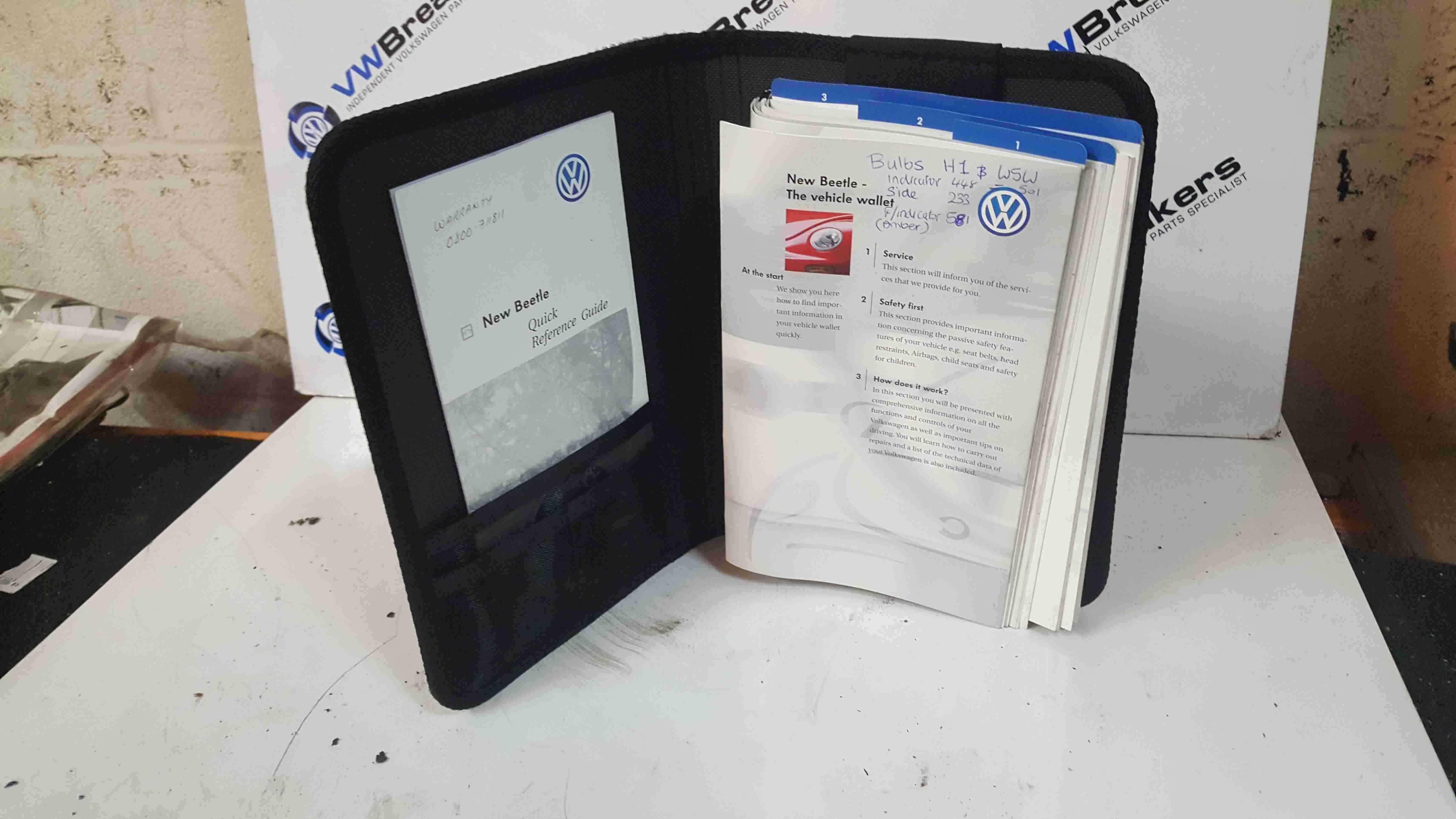 Volkswagen Beetle 1998-2006 Document Wallet Guides