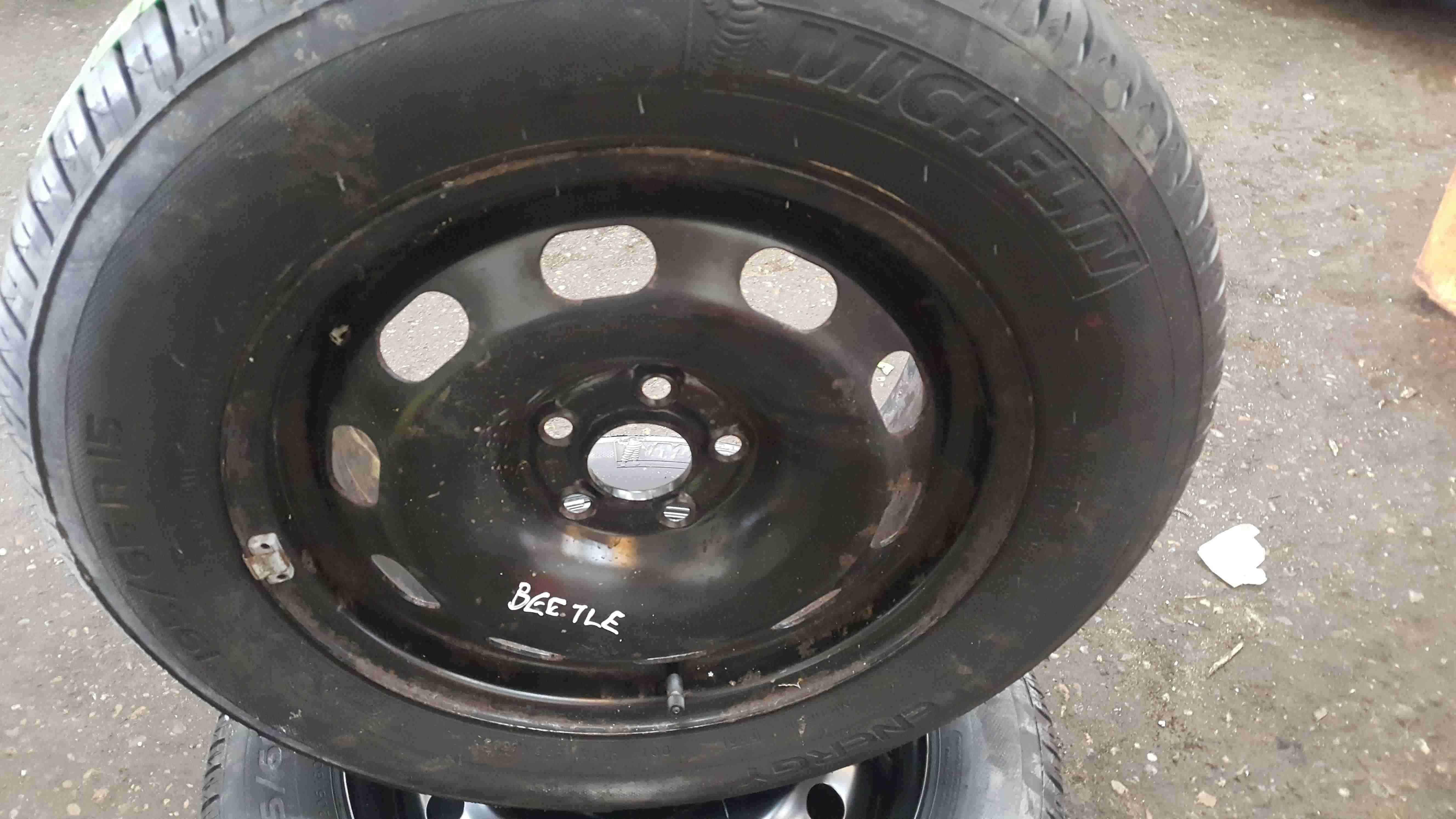 Volkswagen Beetle 1998-2006 Steel Wheel Rim + Tyre 195 65 15 NEW Michelin