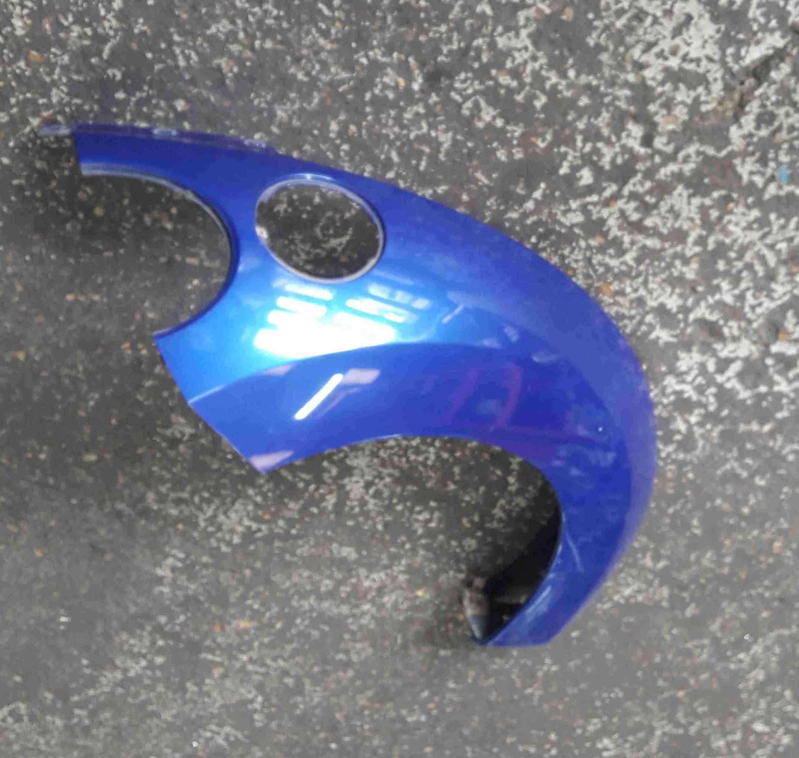 Volkswagen Beetle 2006-2011 Drivers OSR Rear Wing Arch Blue LC5J