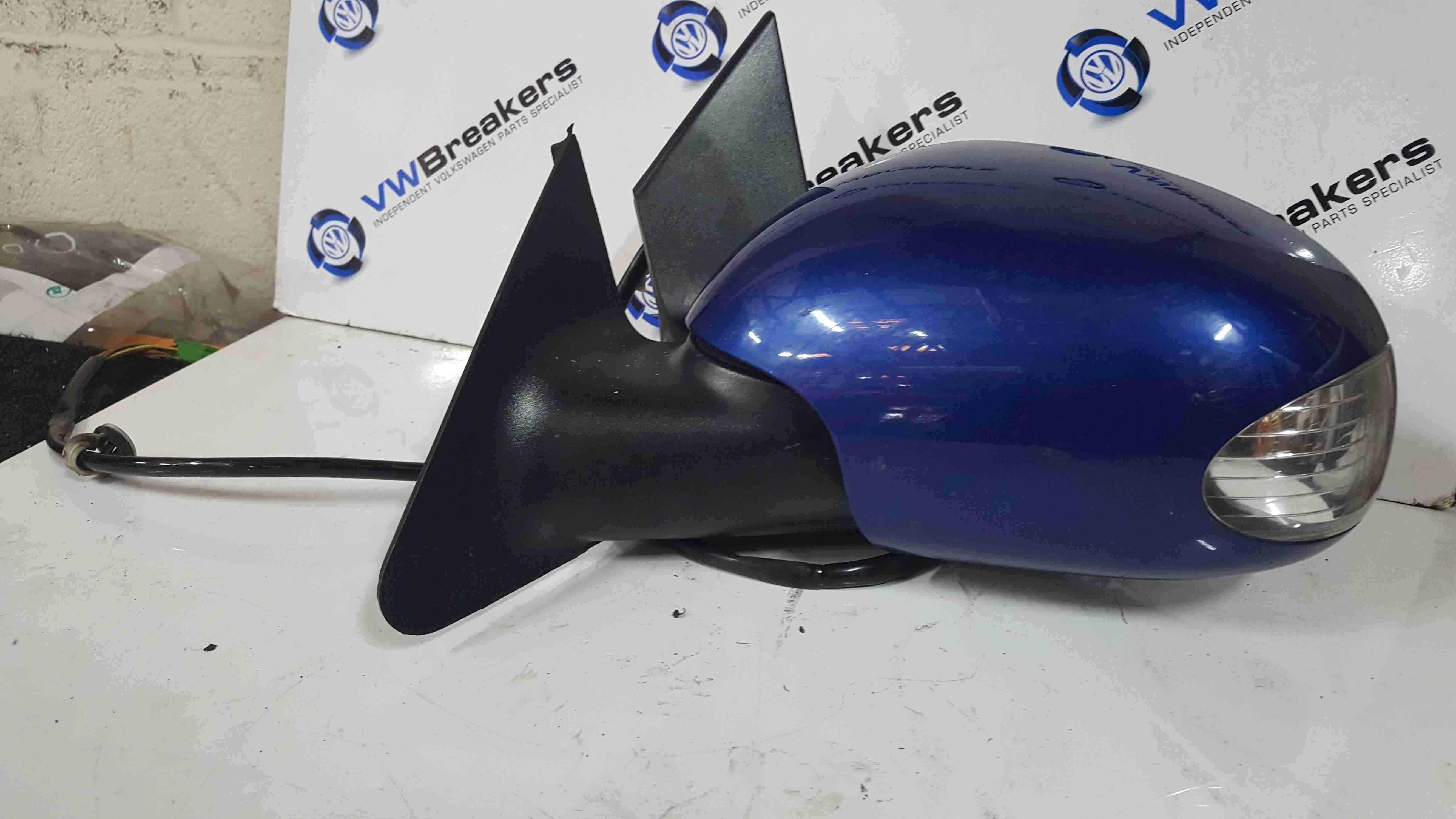 Volkswagen Beetle 2006-2011 Passenger NS Wing Mirror Blue LC5J