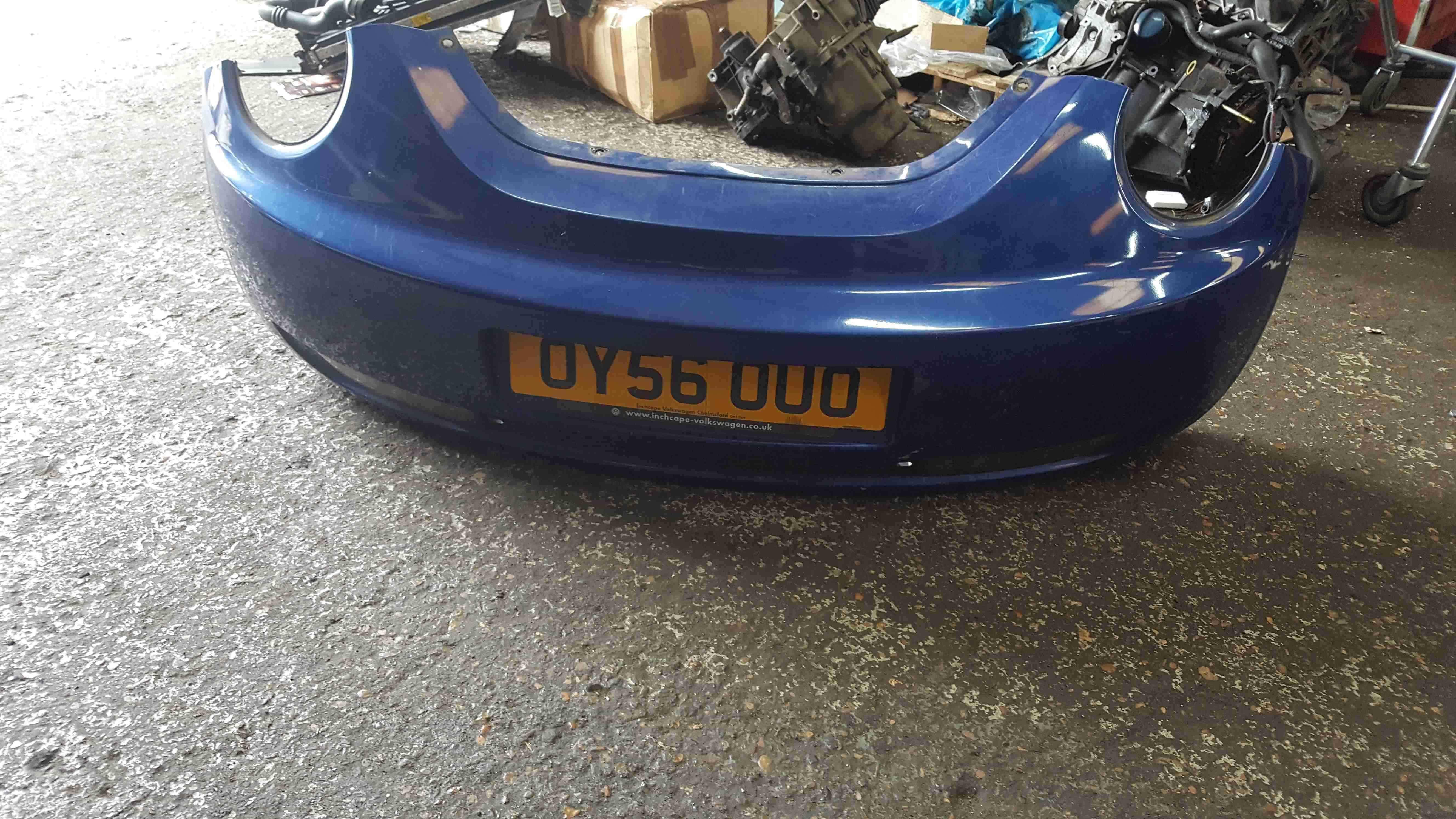 Volkswagen Beetle 2006-2011 Rear Bumper Blue LC5J