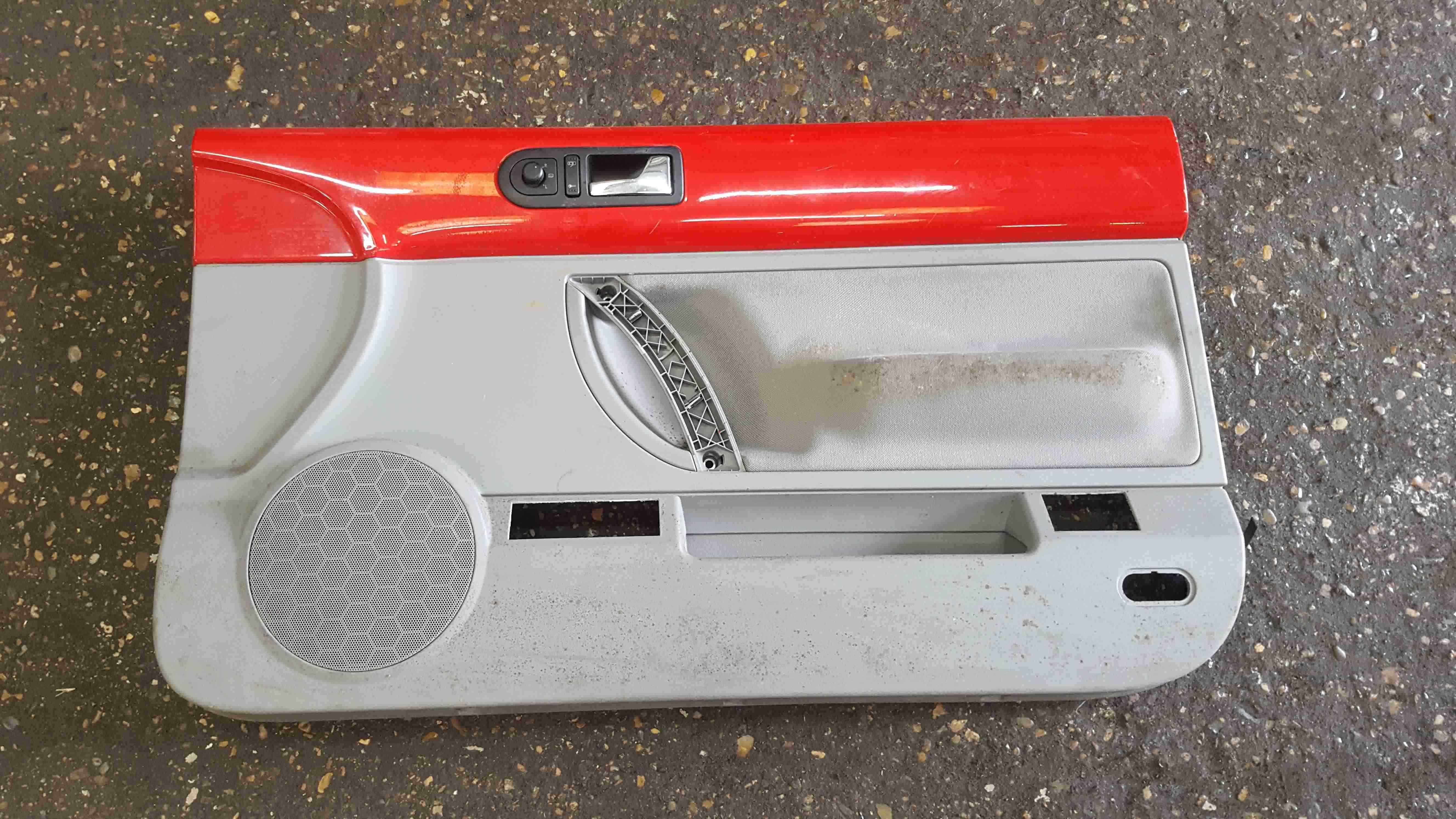 Volkswagen Beetle Convertible 2002-2006 Drivers OSF Front Door Card Red