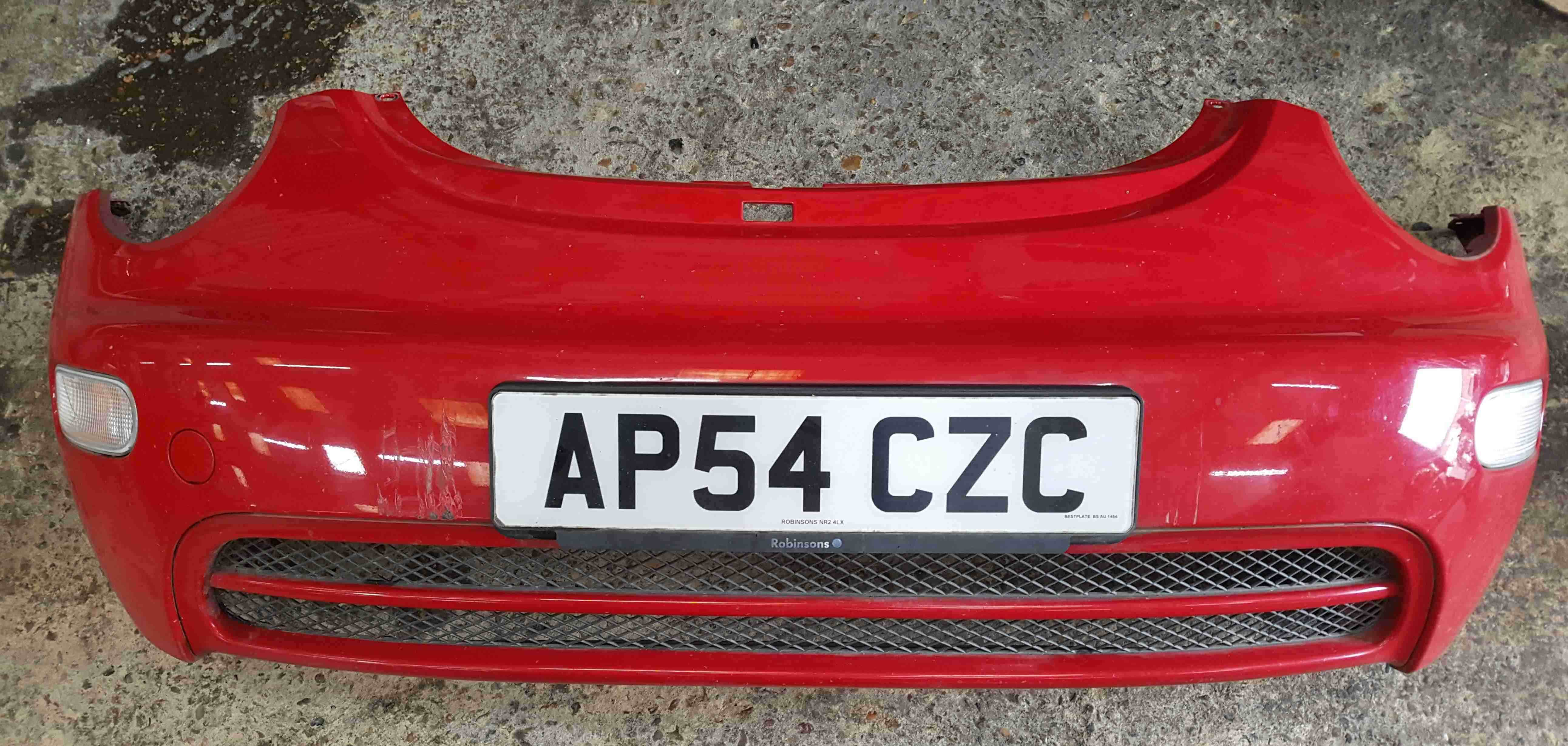 Volkswagen Beetle Convertible 2002-2006 Front Bumper Red LY3D