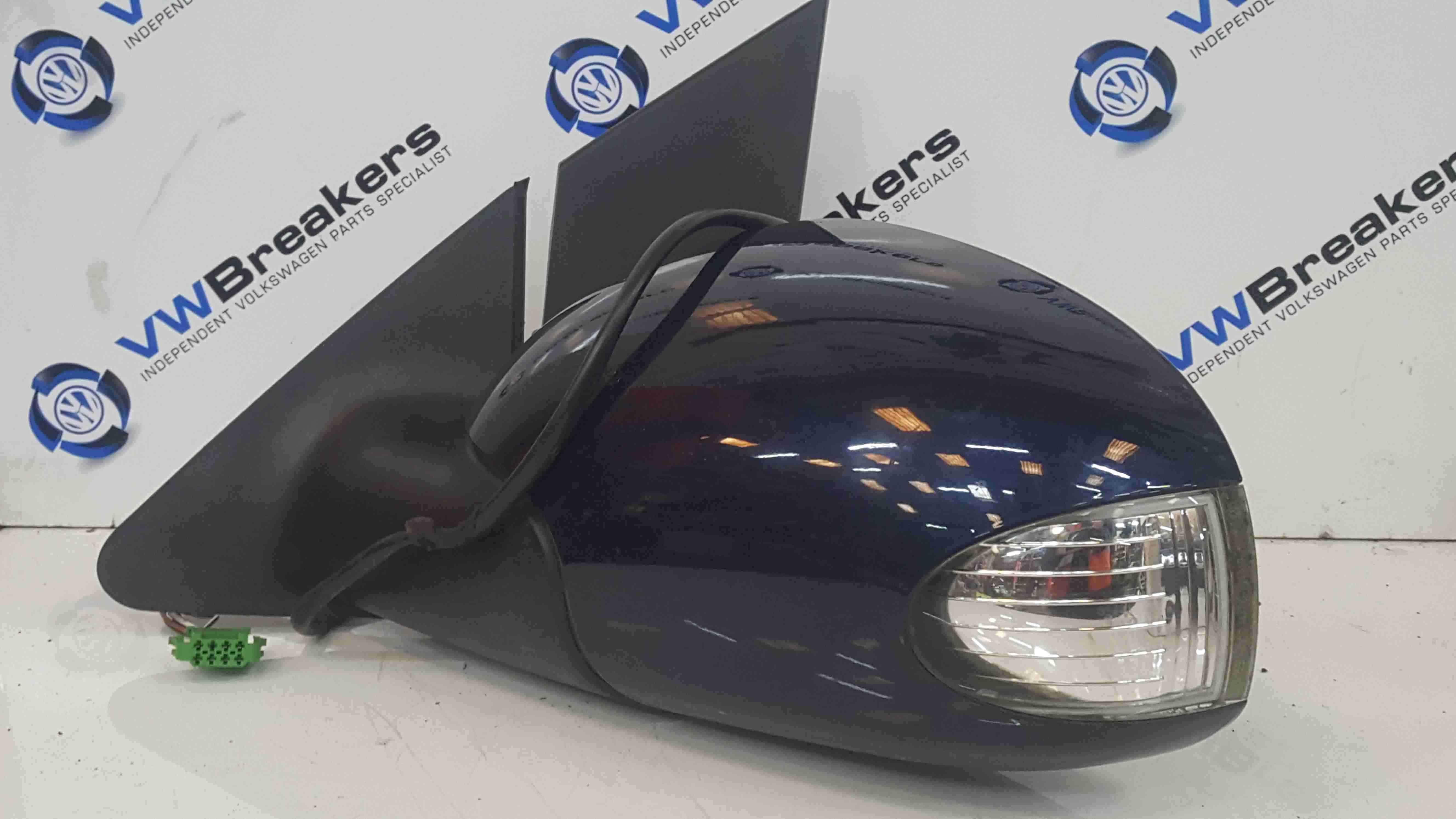 Volkswagen Beetle Convertible 2002-2006 Passenger NS Wing Mirror Blue LG5V