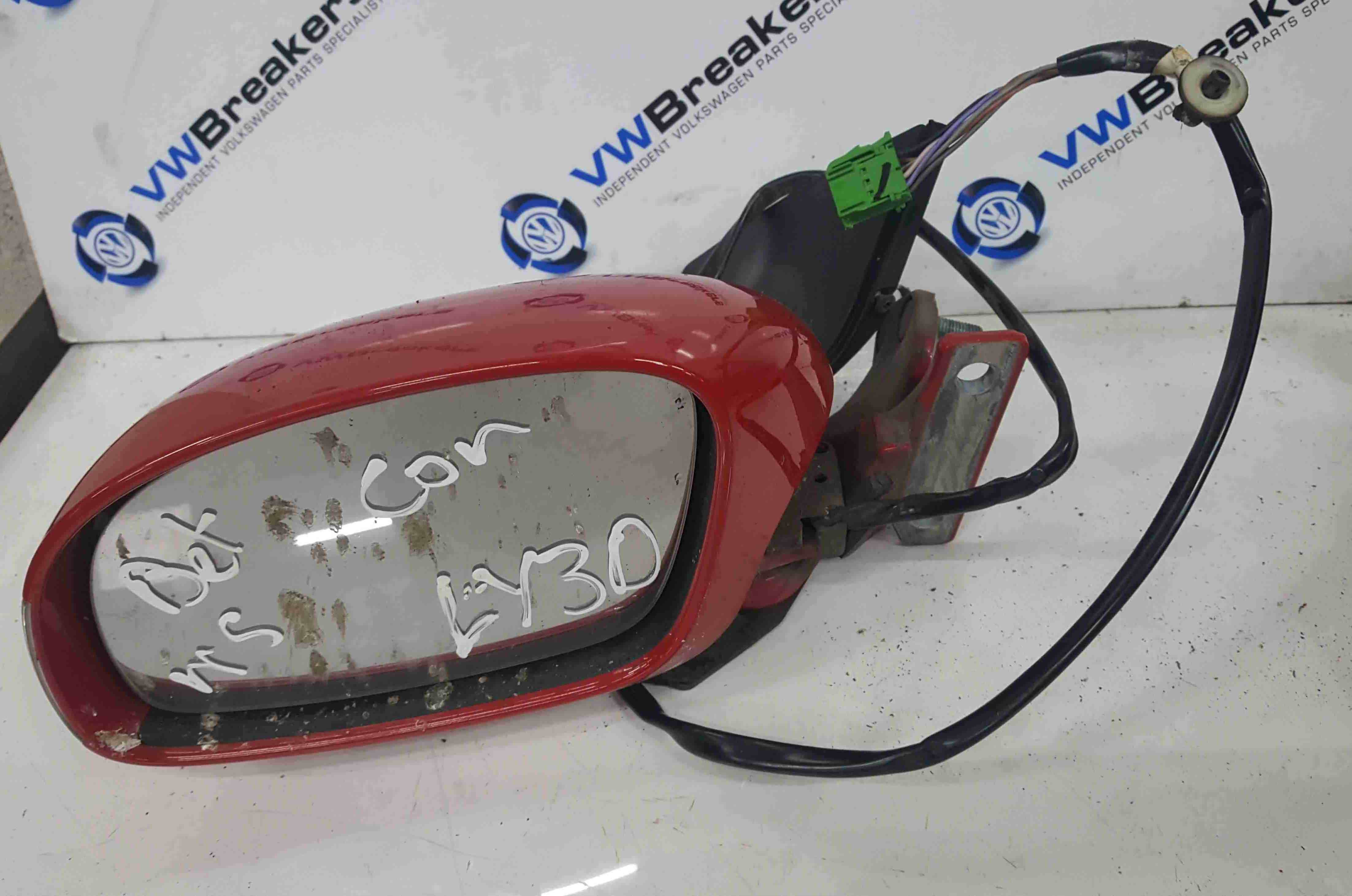Volkswagen Beetle Convertible 2002-2006 Passenger NS Wing Mirror Red LY3D