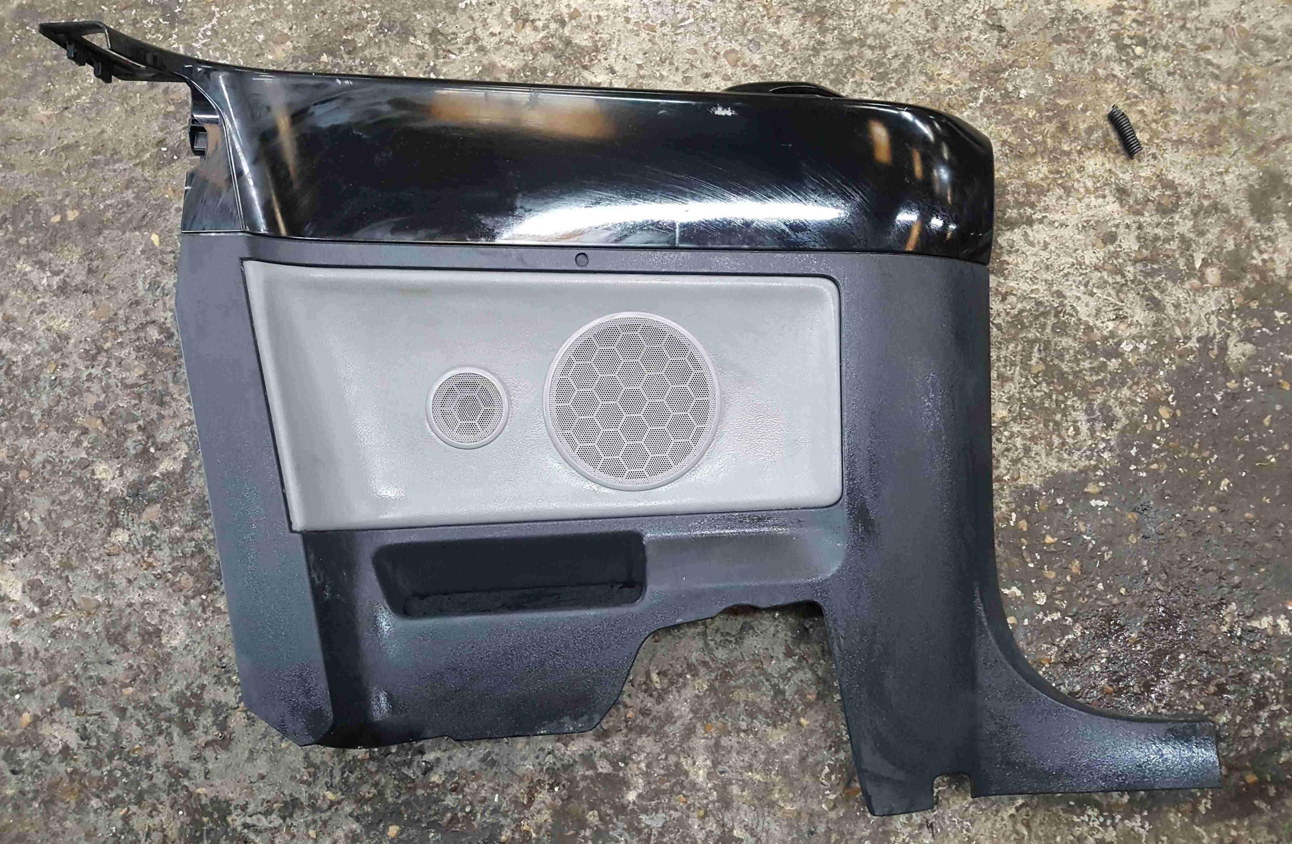 Volkswagen Beetle Convertible 2002-2006 Passenger NSR Rear Door Card Black
