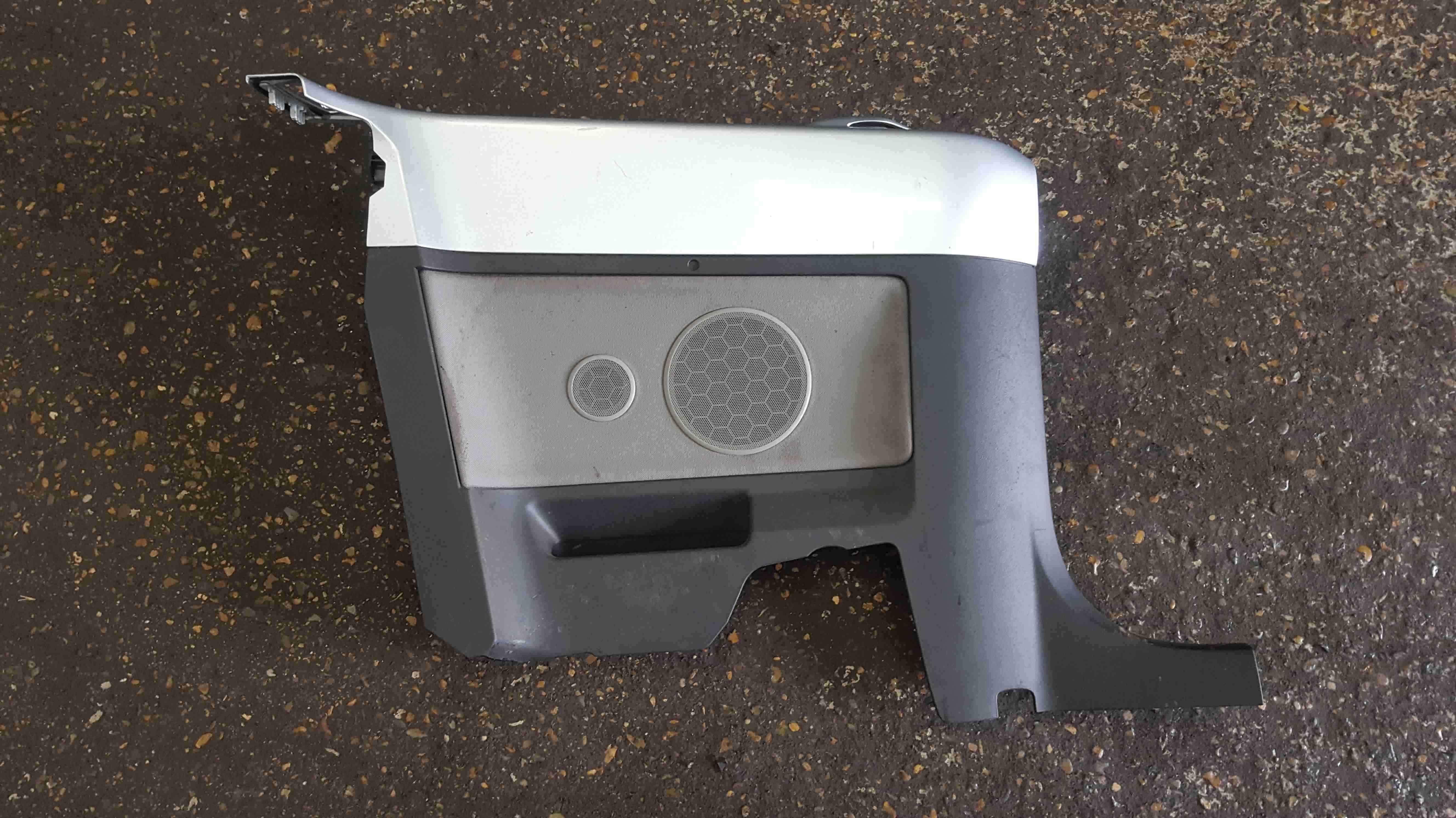Volkswagen Beetle Convertible 2002-2006 Passenger NSR Rear Door Card Silver