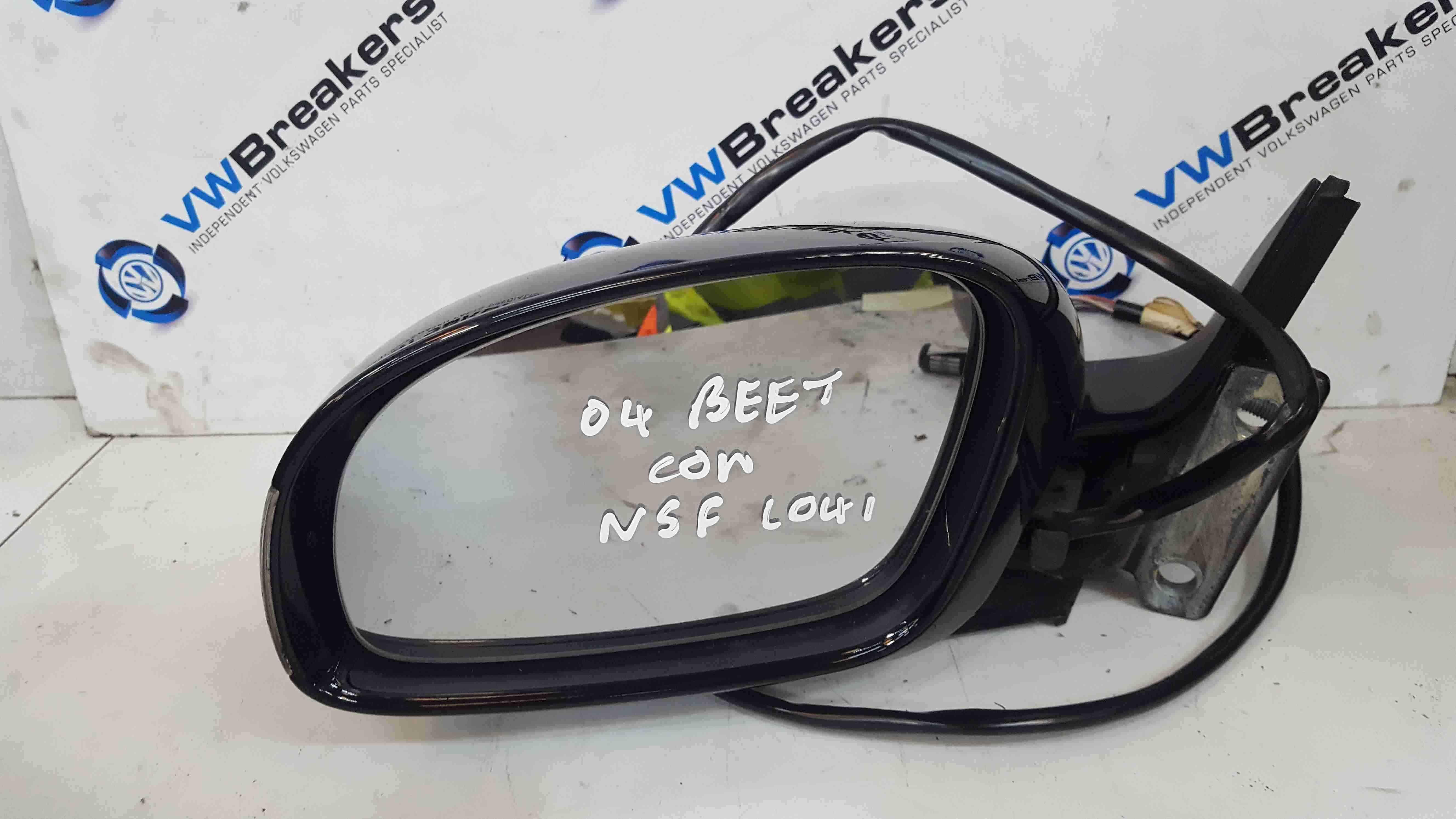 Volkswagen Beetle Convertible 2002-2011 Passenger NS Wing Mirror Black L041
