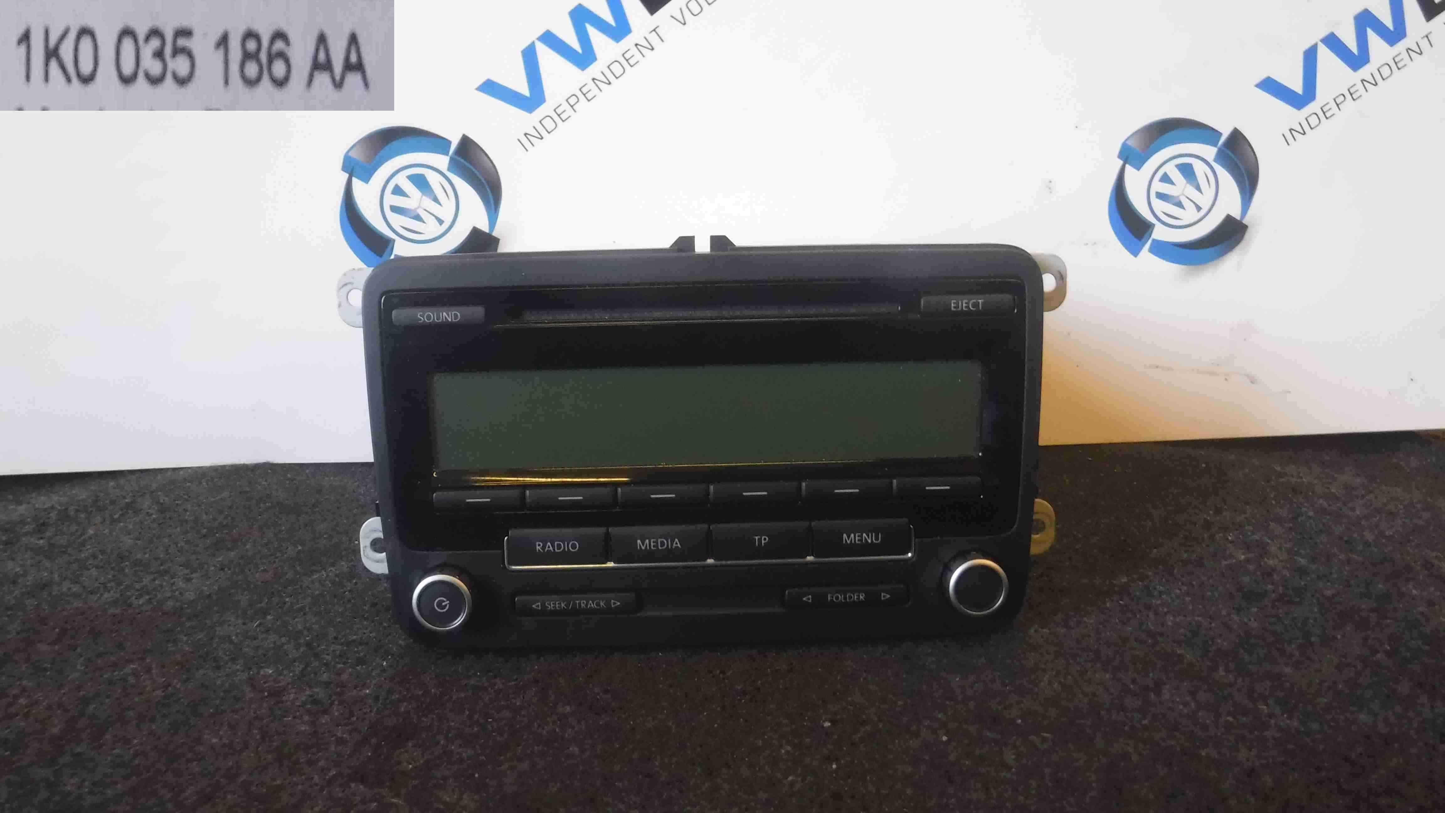 Volkswagen EOS 2005-2016 Radio Cd Player Head Unit 1K0035186AA