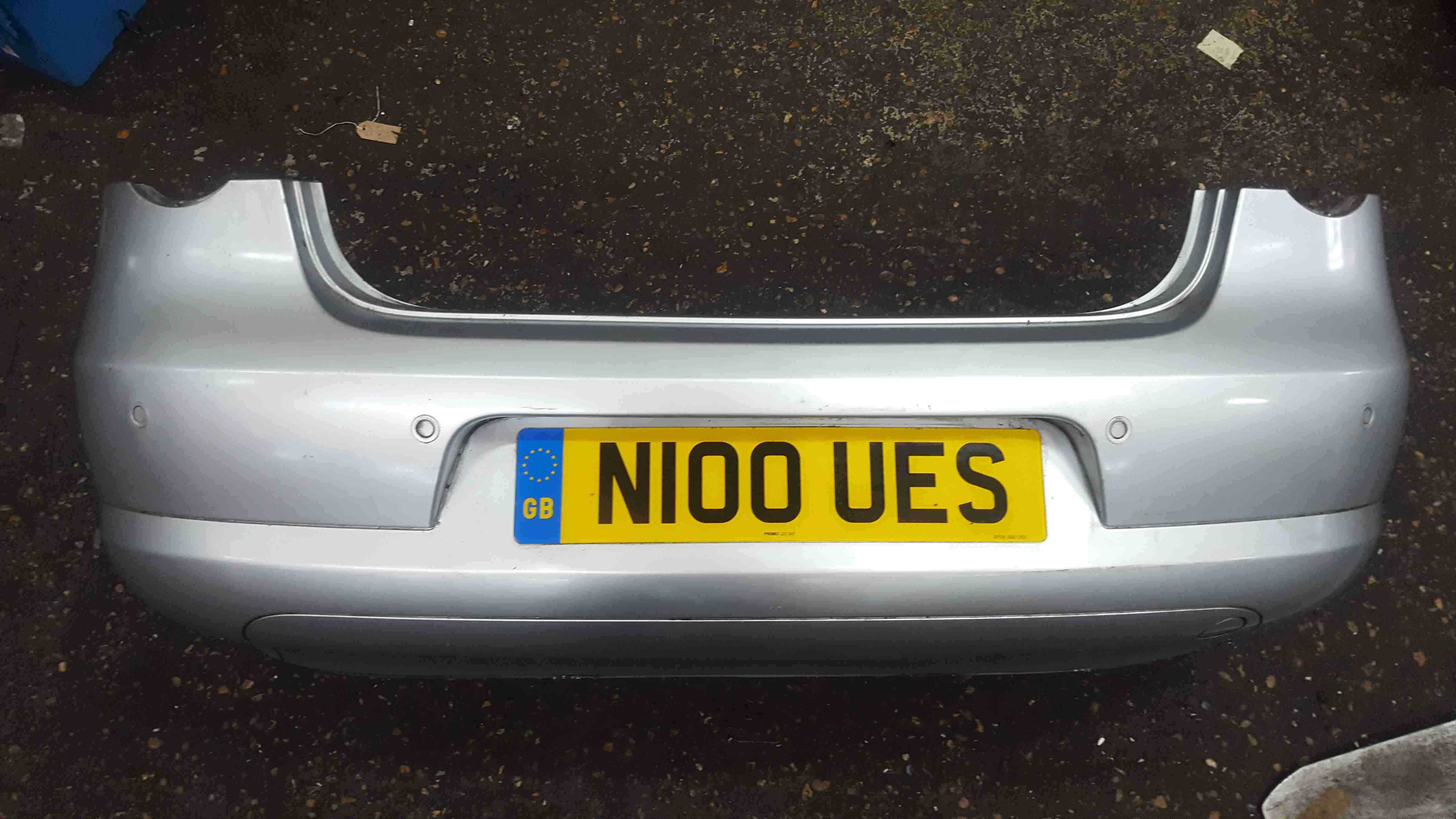 Volkswagen EOS 2006-2015 Rear Bumper Silver LK7W Reversing Sensors