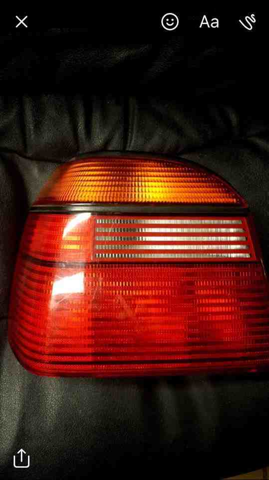 Volkswagen Golf MK3 1991-1999 Passenger NSR Rear Light Lens CL 1H6945111a