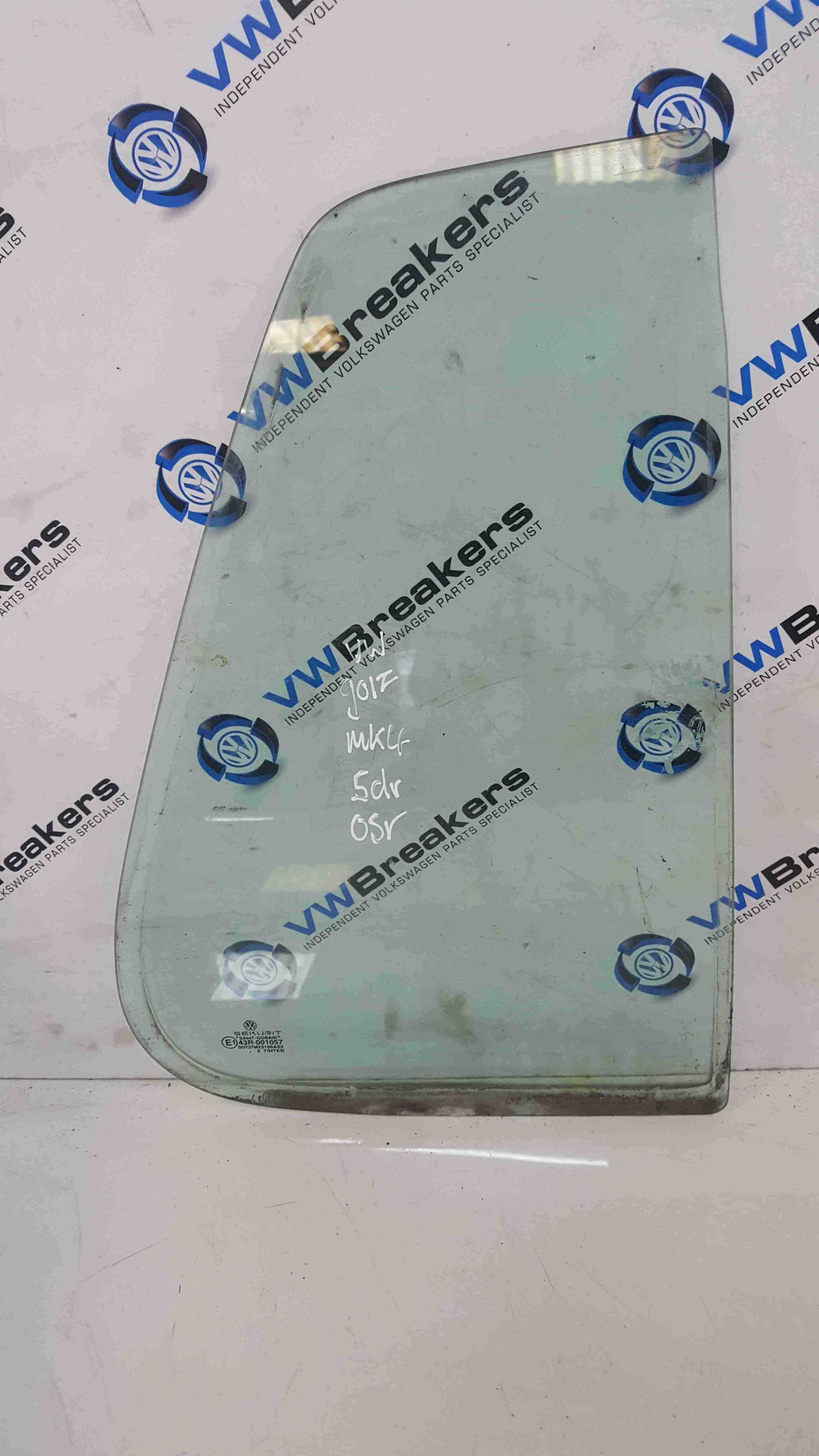 Volkswagen Golf MK4 1997-2004 Drivers OSR Rear Window Glass Small