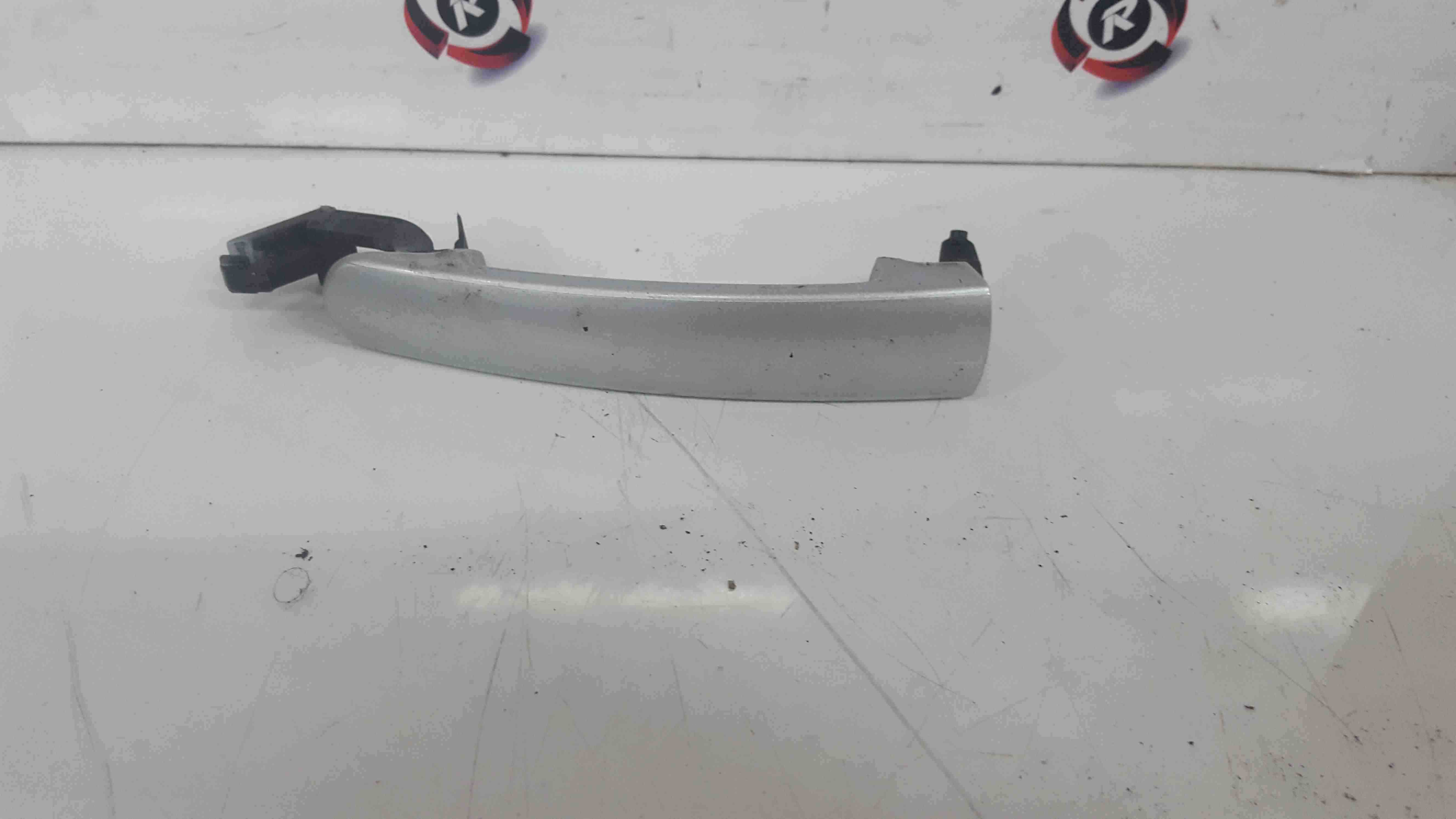 Volkswagen Golf MK5 2003-2009 Drivers OSR Rear Exterior Door Handle Silver LA7W