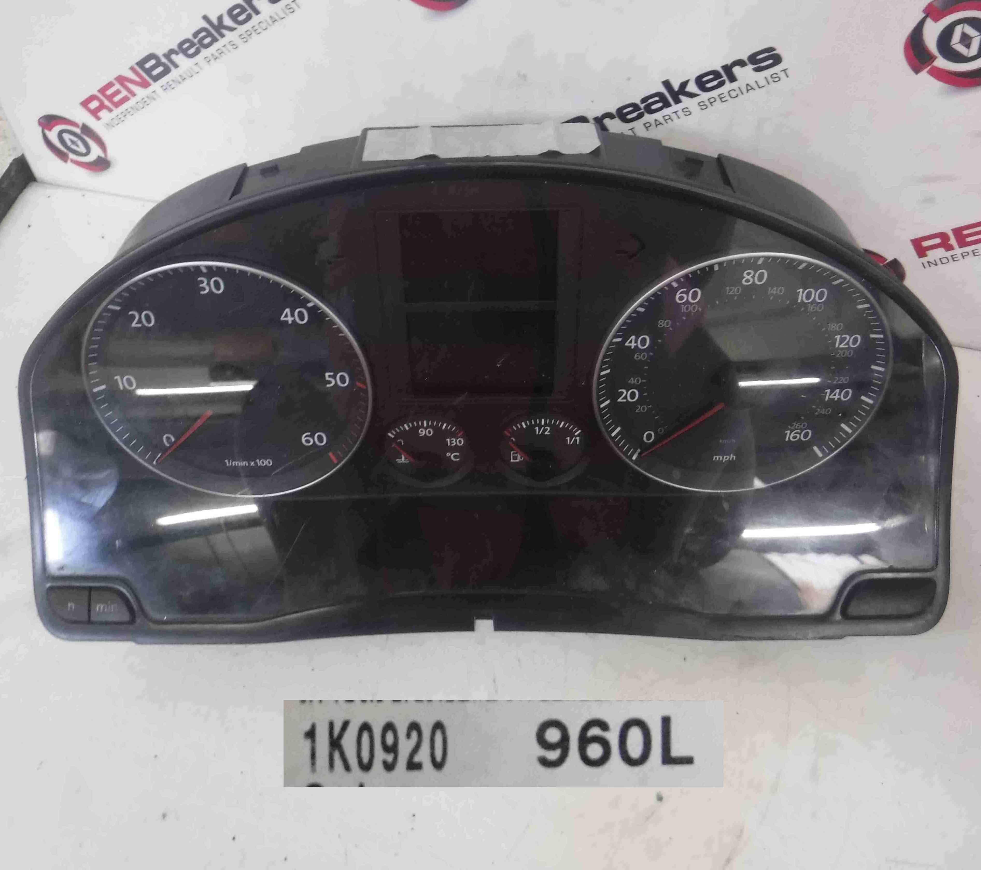 Volkswagen Golf MK5 2003-2009 Instrument Panel Dials Gauges Clocks