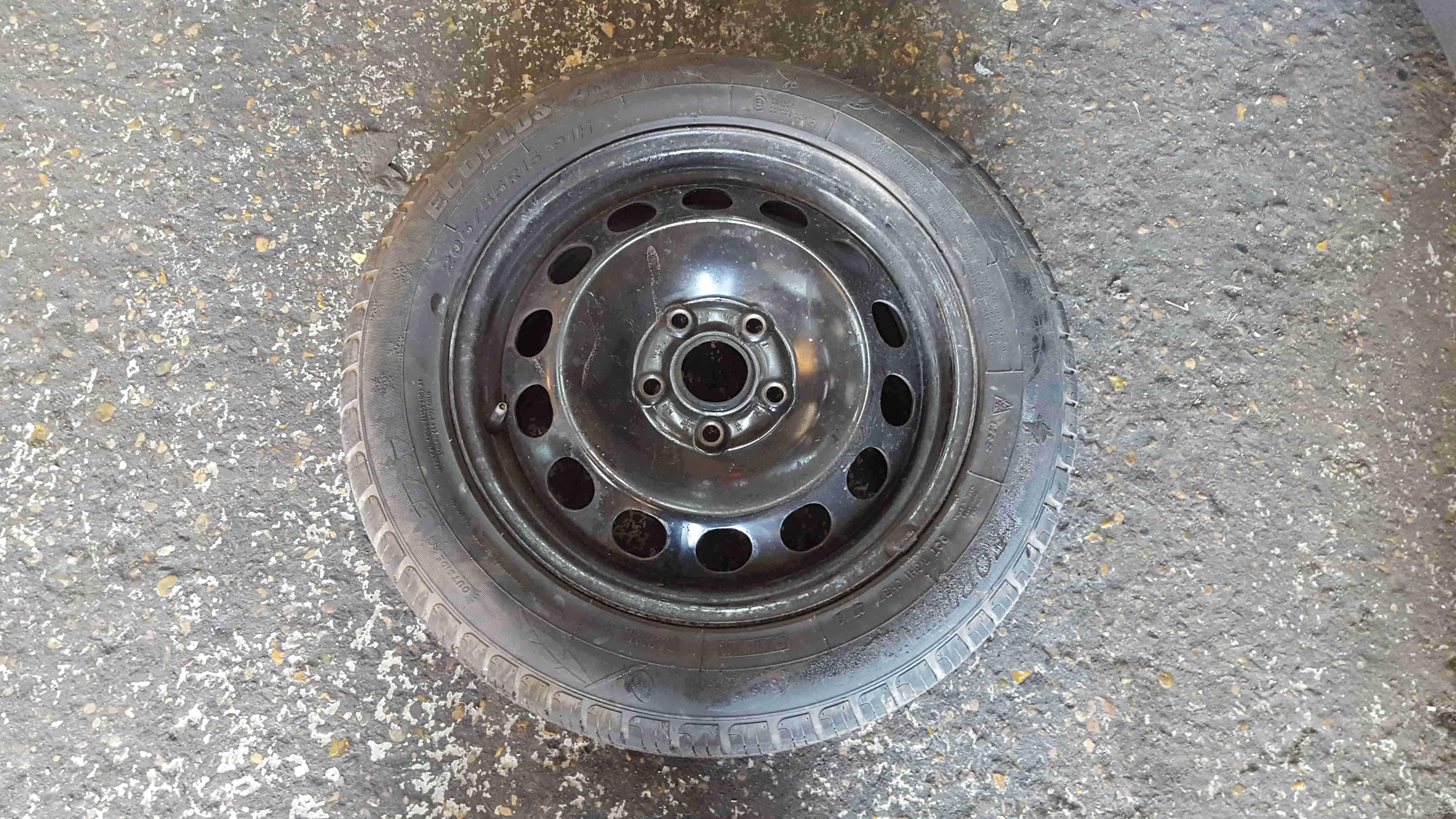 Volkswagen Golf MK5 2003-2009 Steel Wheel Rim + Tyre 205 55 16 8mm Tread