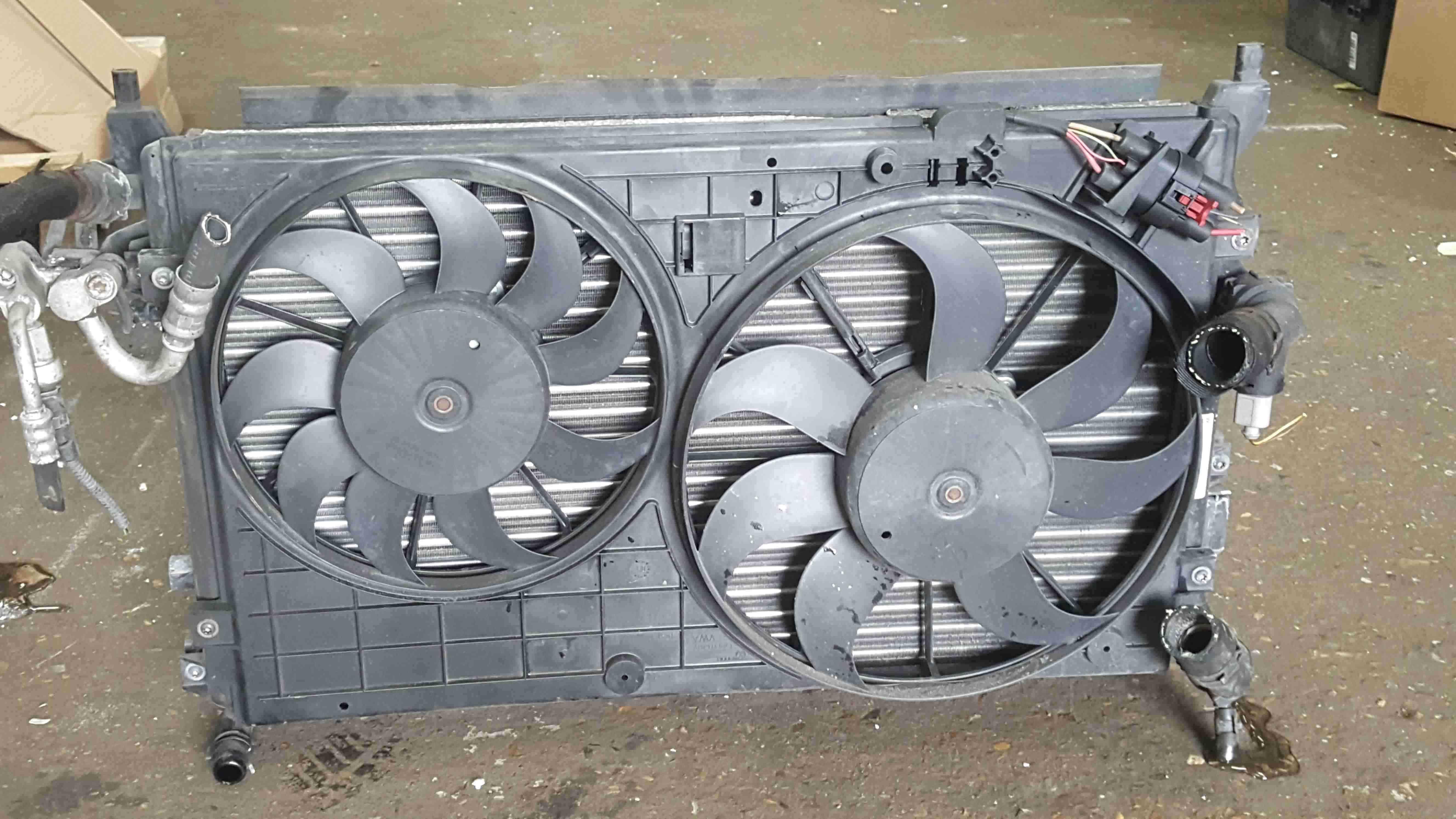 Volkswagen Golf MK6 2009-2012 1.4 TSi Radiator Rad Pack Cooling Fan 1K0121253BB