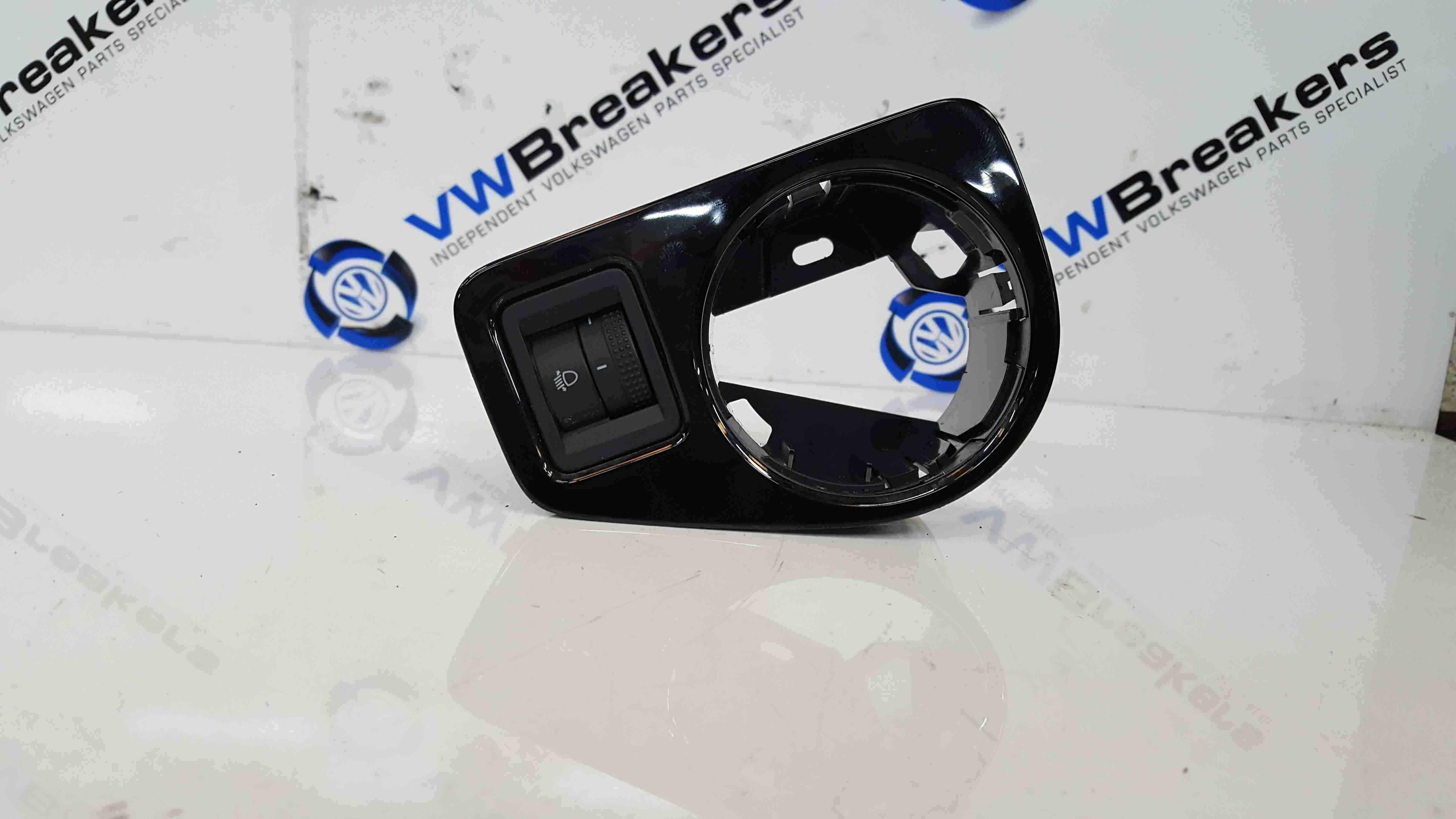 Volkswagen Golf MK7 2012-2017 Headlight Adjuster Panel Surround Gloss Black