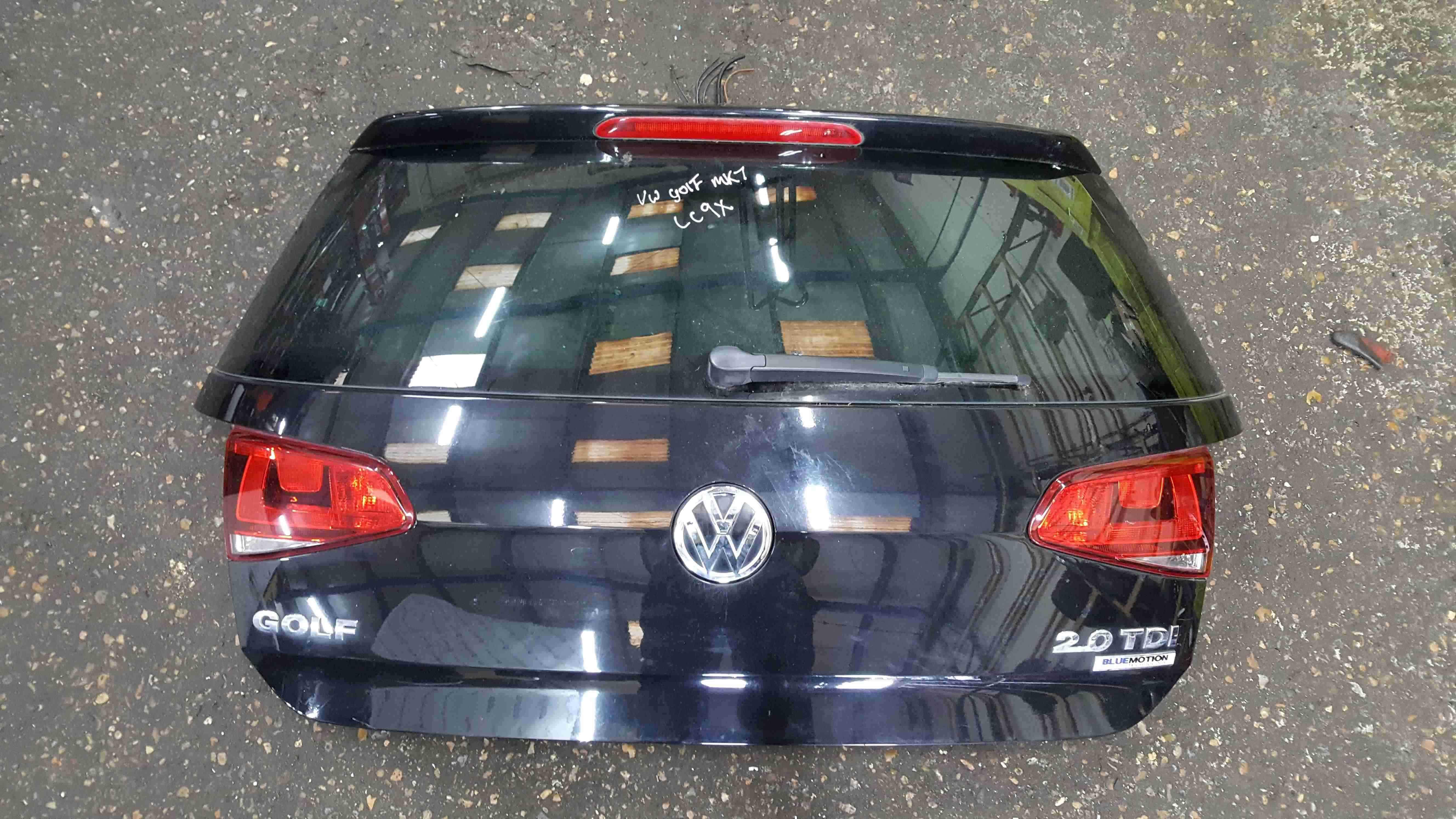 Volkswagen Golf MK7 2012-2017 Rear Tailgate Boot Black LC9X