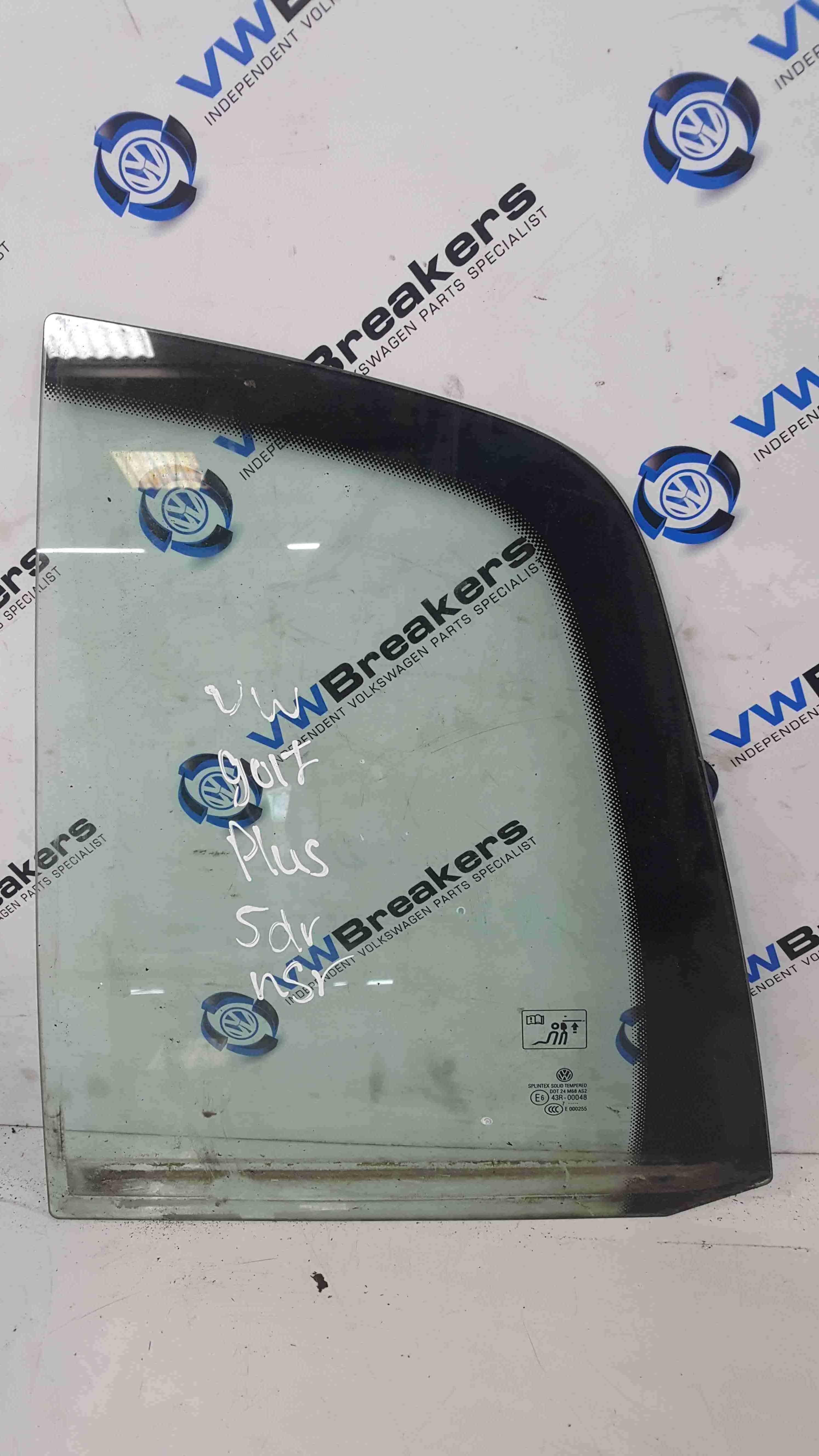 Volkswagen Golf Plus MK5 2003-2009 Passenger NSR Rear Small Glass Window