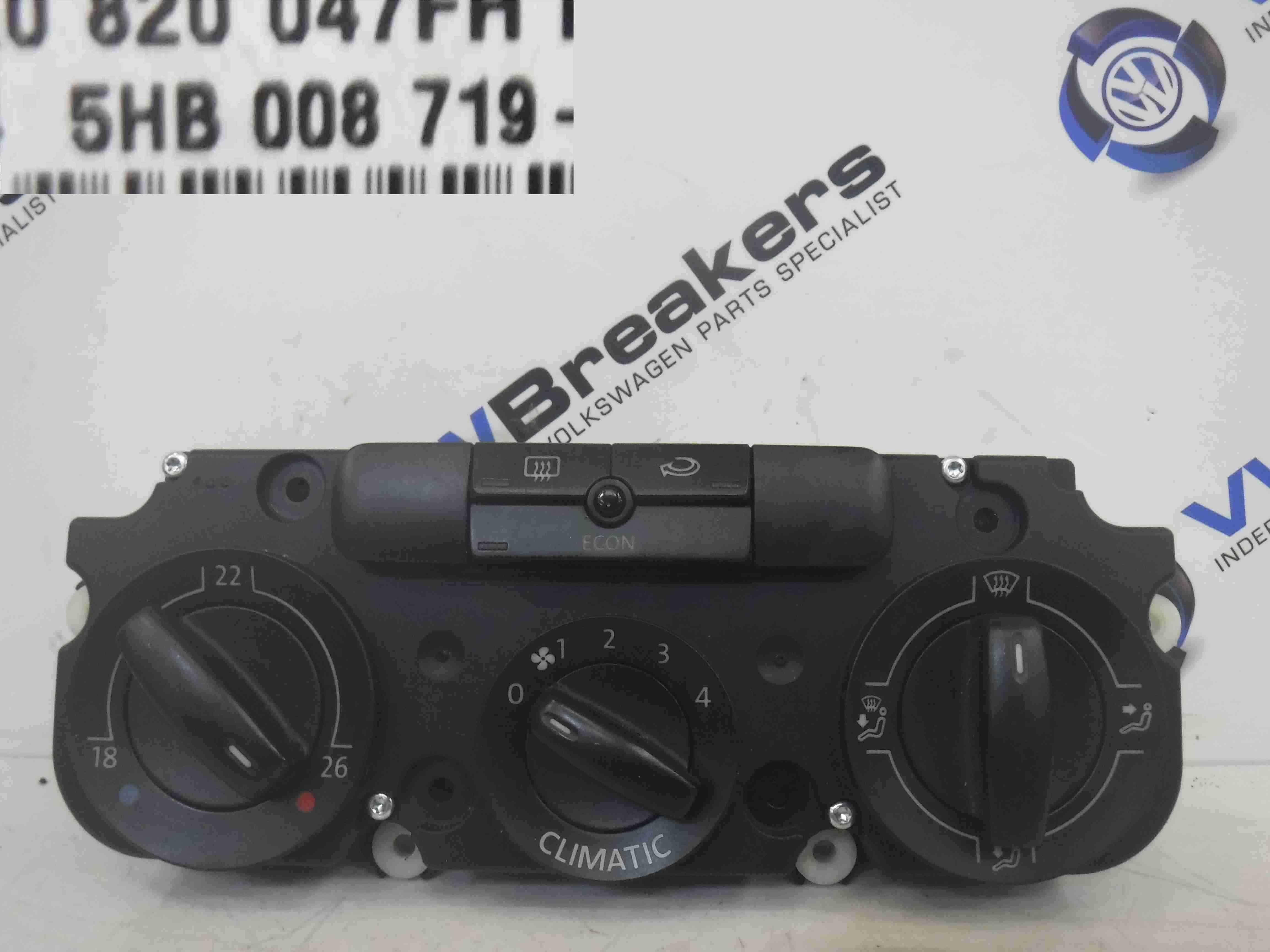 Volkswagen Jetta A5 2005-2011 Heater Control Dials Climate Aircon 5HB008719