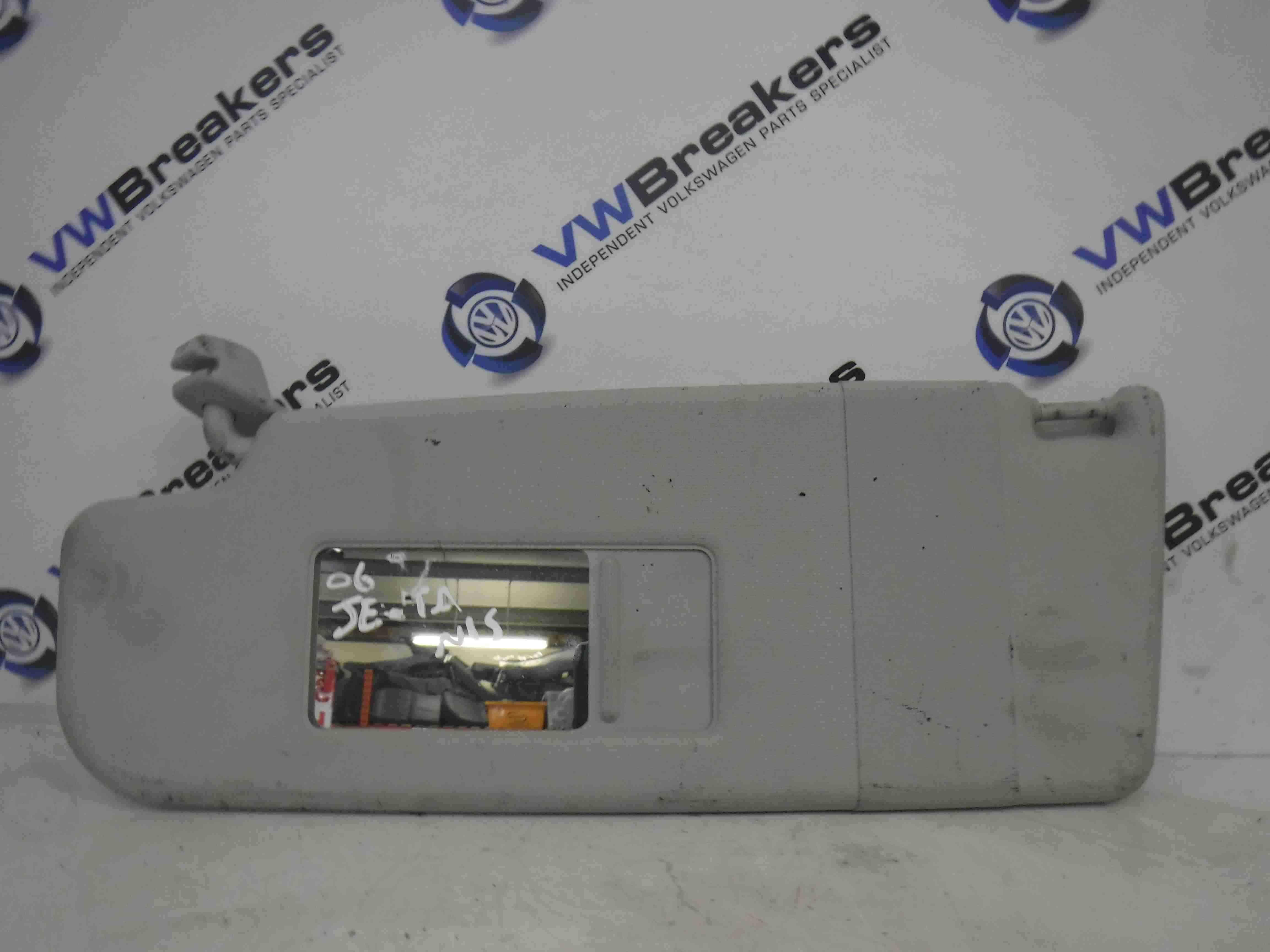Volkswagen Jetta A5 2005-2011 Passenger NSF Front Sun Visor Shade