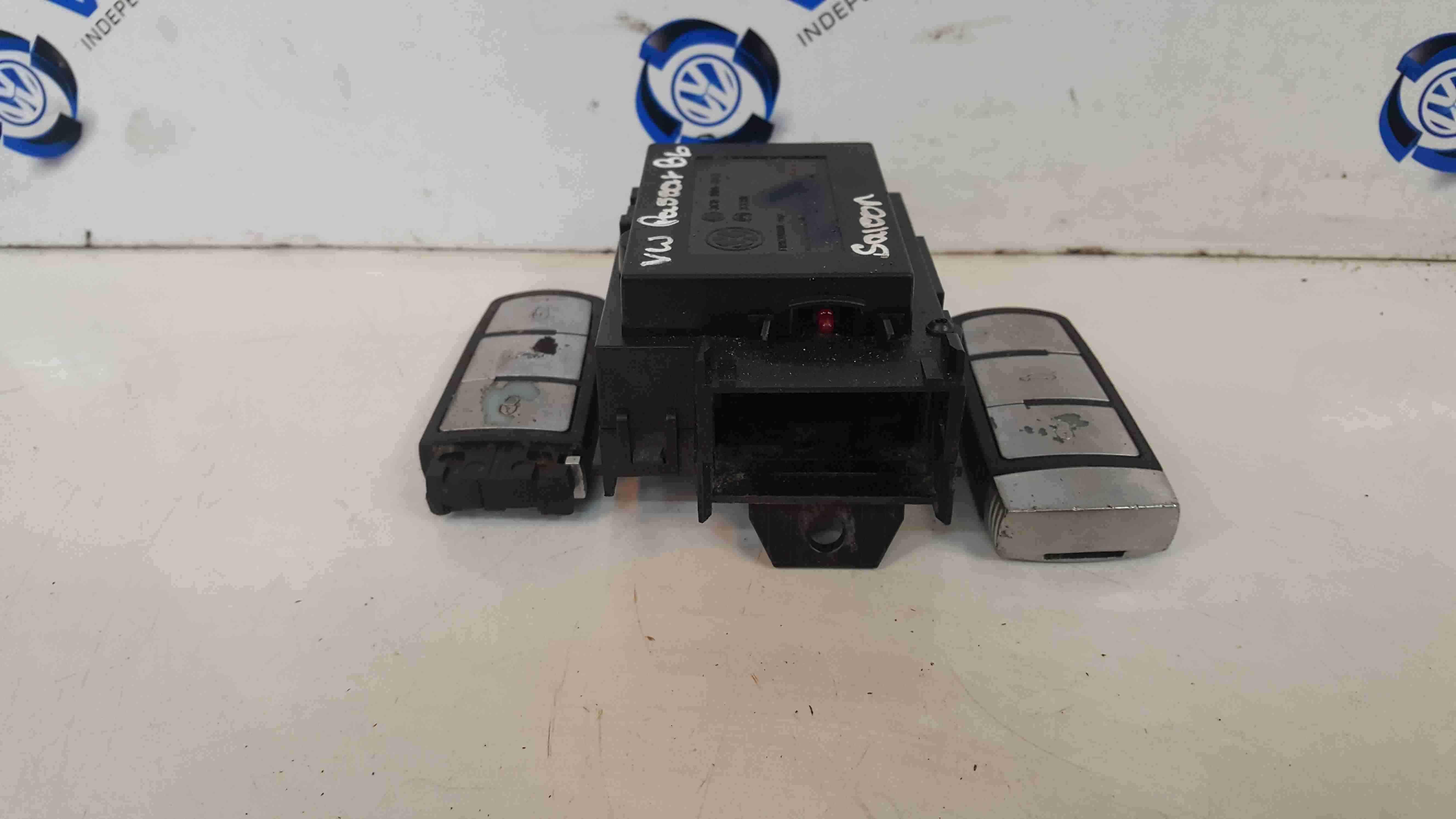 Volkswagen Passat B6 2005-2010 Ignition Key Barrel Reader + 2 Keys 3C0905843