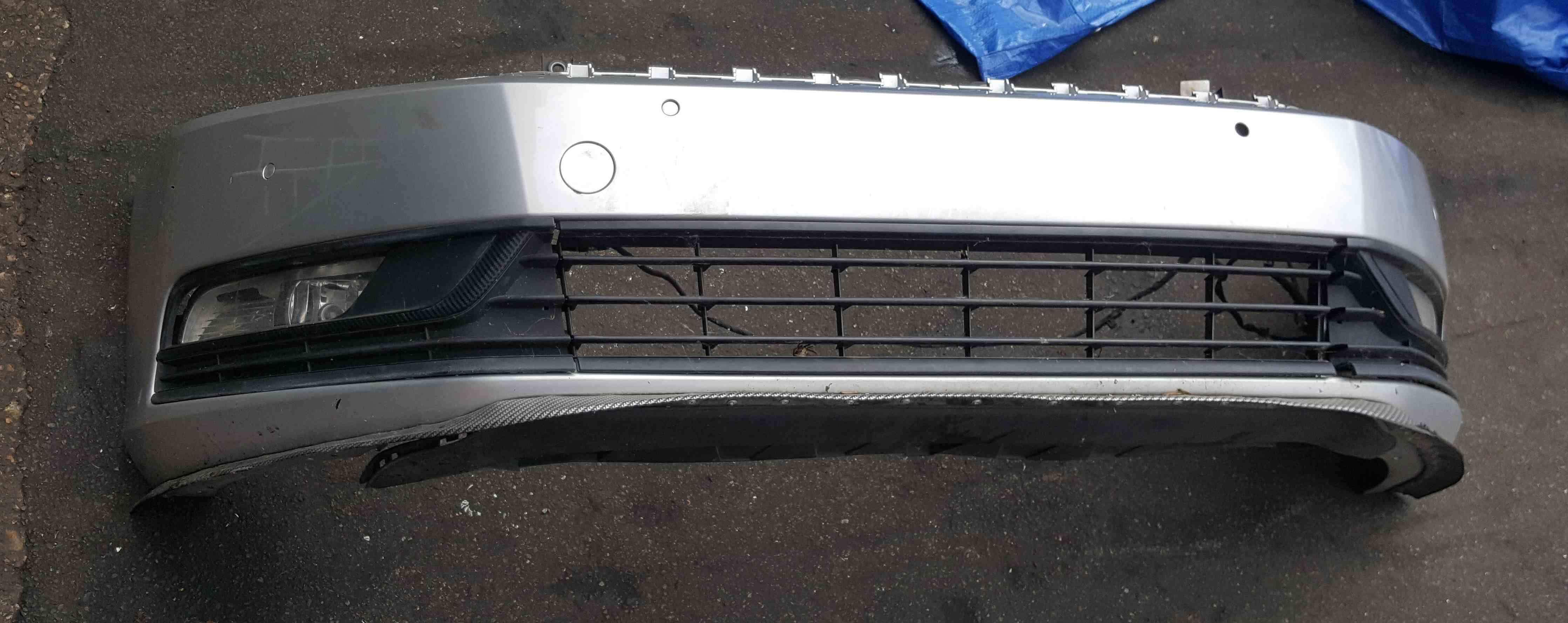 Volkswagen Passat B7 2010-2015 Front Bumper Silver LA7W