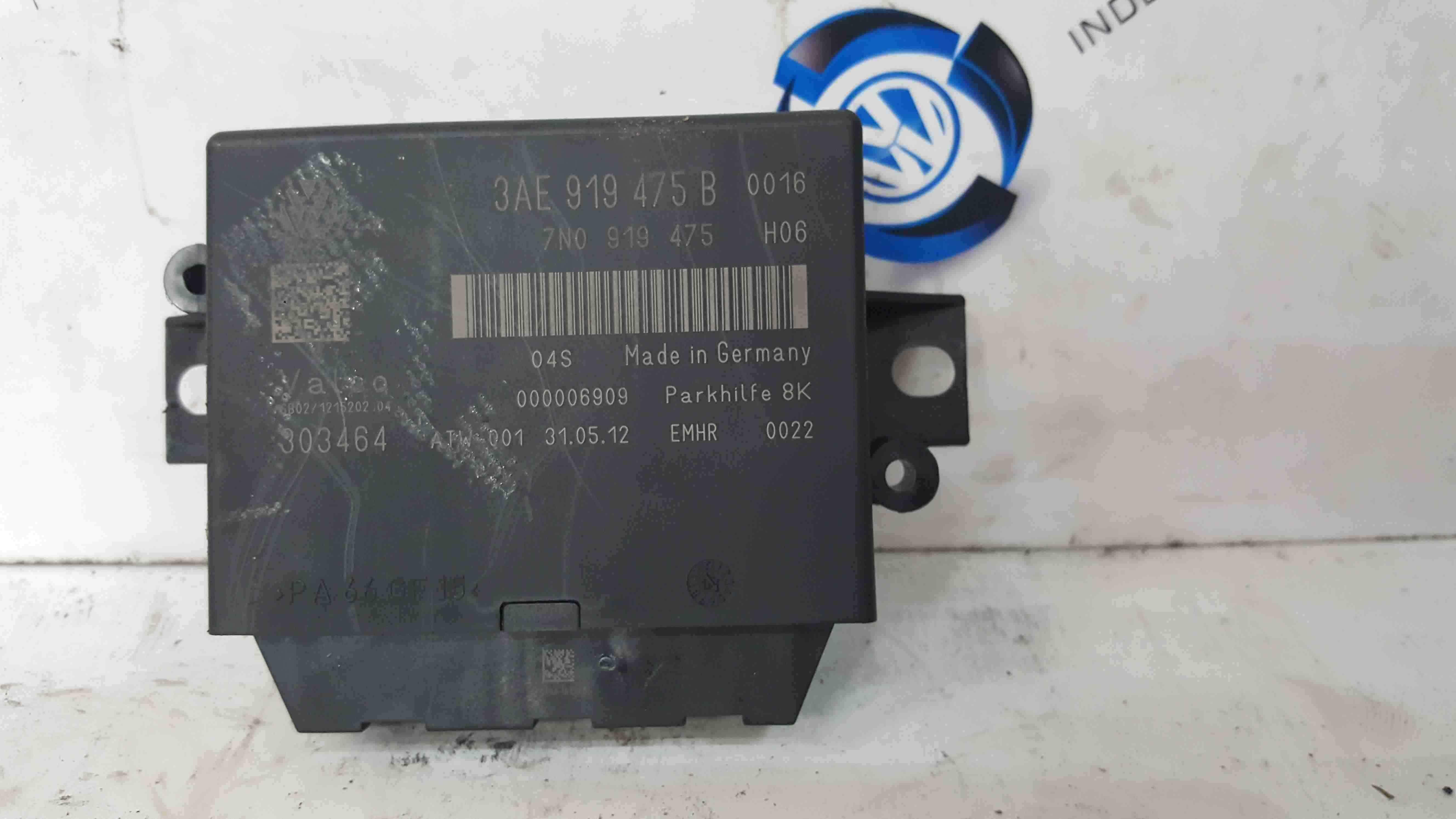 Volkswagen Passat B7 2010-2015 Parking Sensor Module 3AE919475B