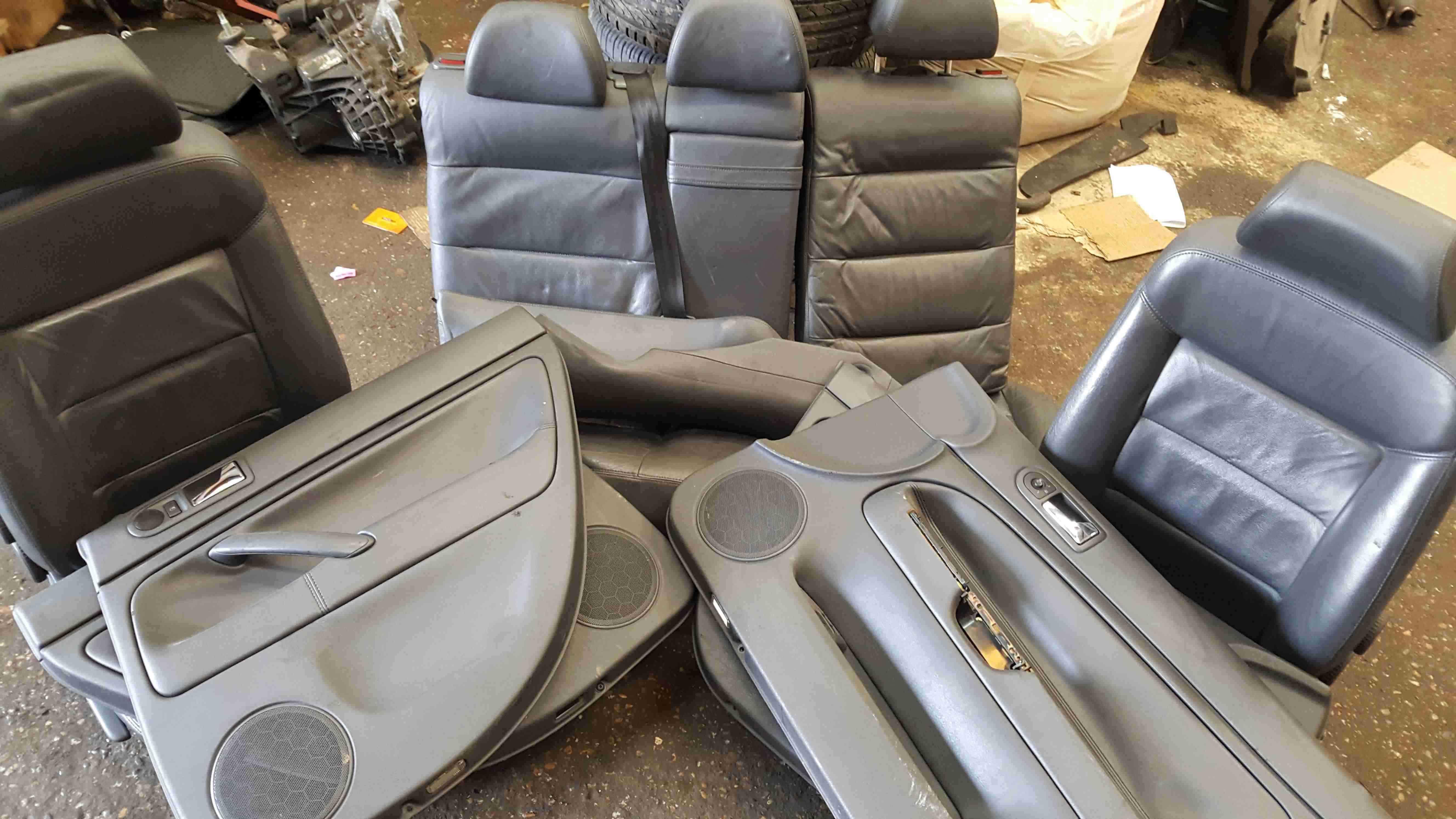 Volkswagen Passat Estate B5.5 2001-2005 Black Leather Interior Set Chairs Seats