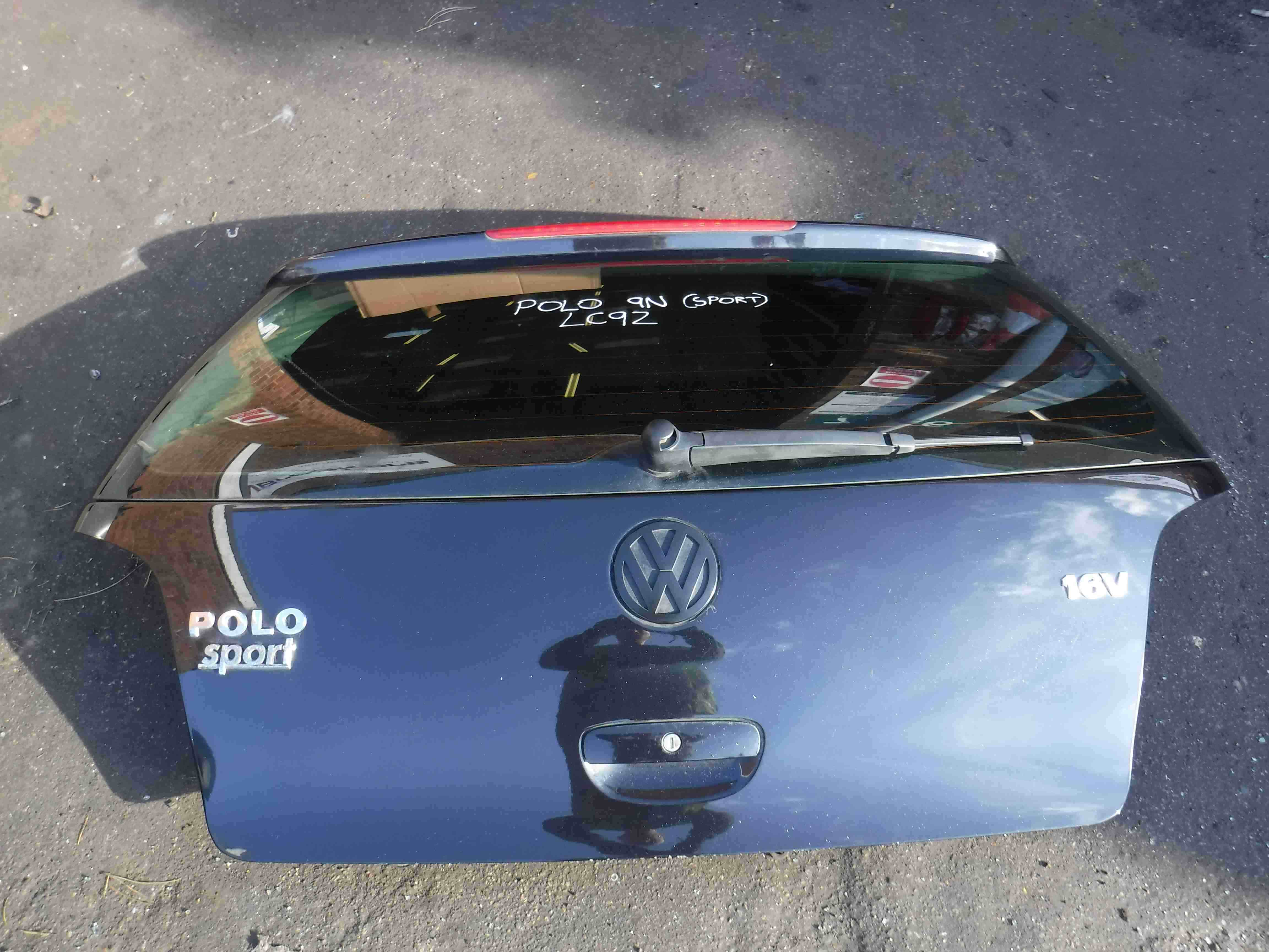 Vehicle Fitment / Condition & Volkswagen Polo 2003-2006 9N Boot Tailgate Rear Door Black LC9Z 3dr ...