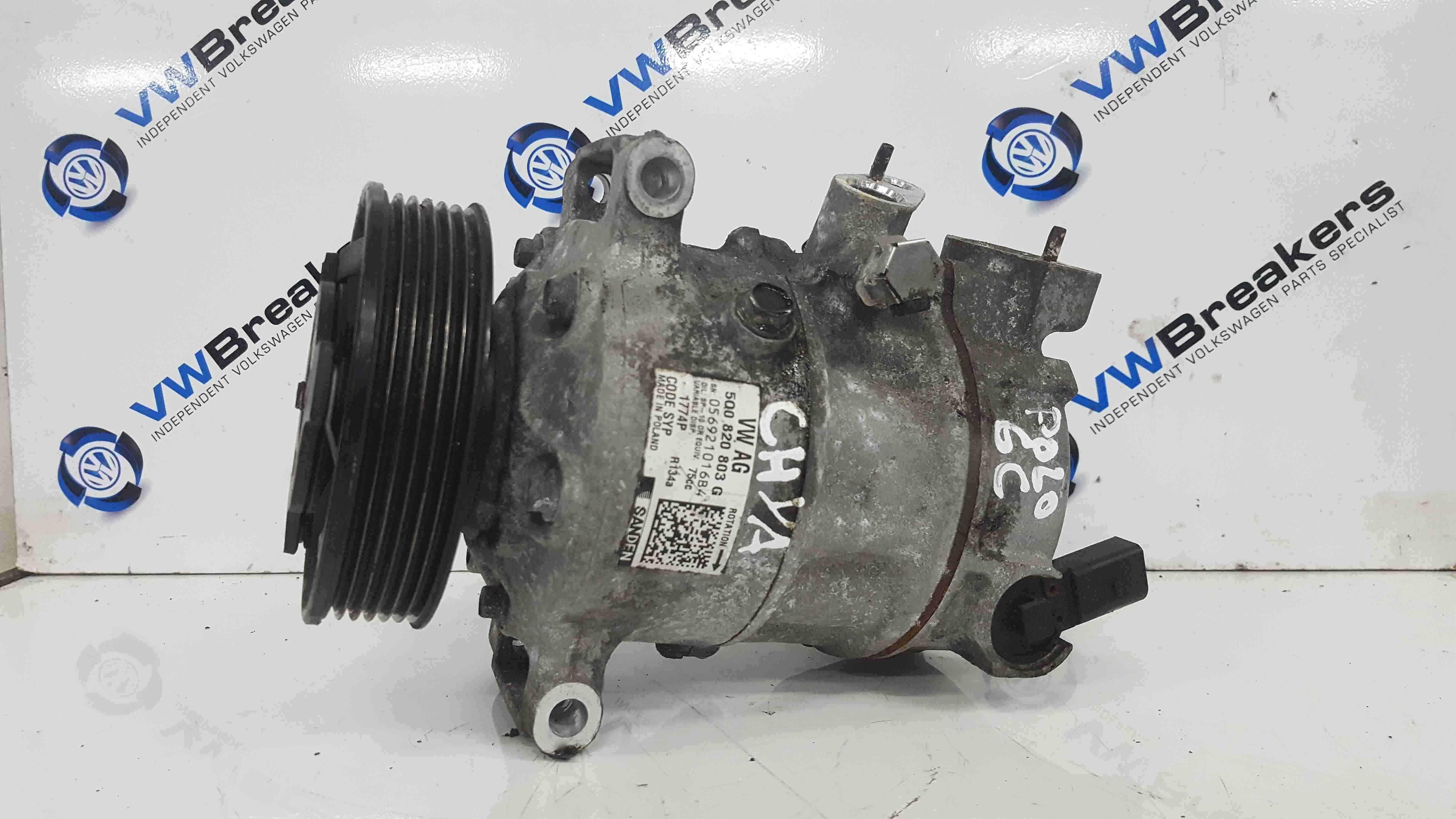Volkswagen Polo 6C 2014-2017 Aircon Pump Compressor Unit 5Q0820803G