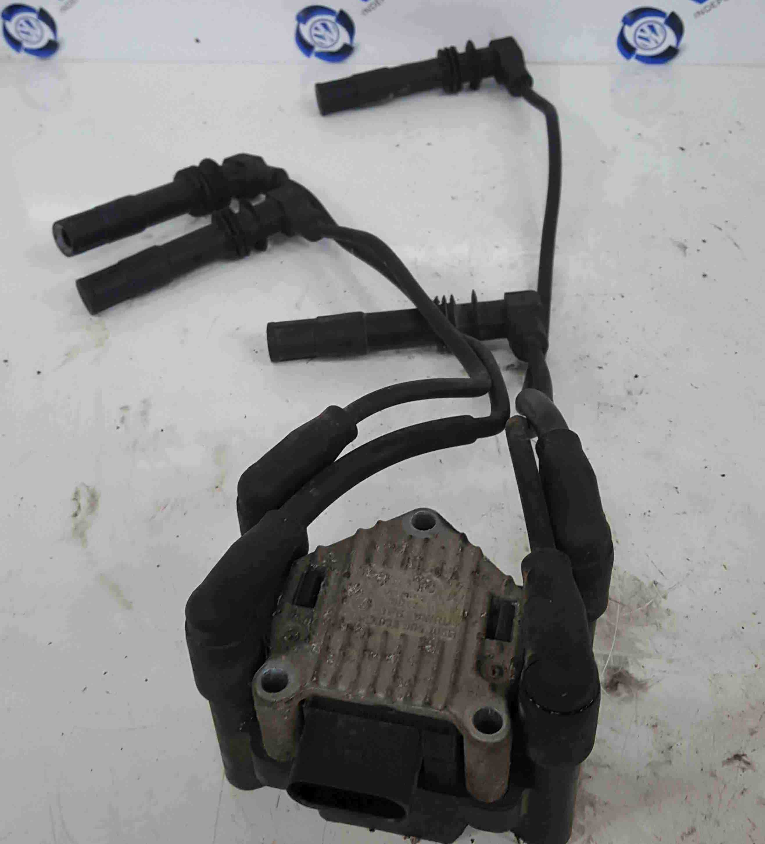Volkswagen Polo 6N2 1999-2003 1.4 Ignition Coil Pack + Coil Leads 032905196b