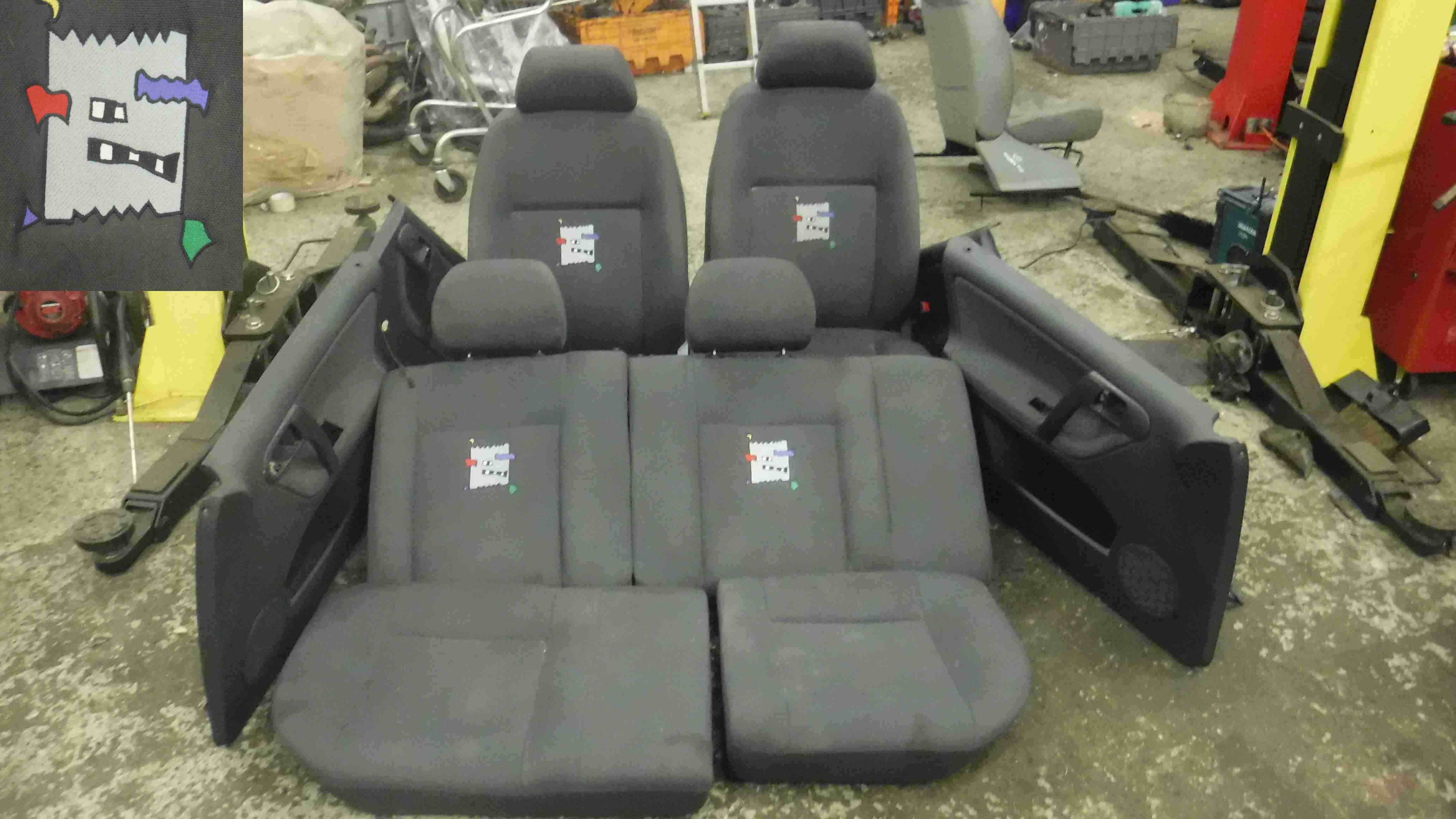 volkswagen polo    full interior seat chairs set rare fully  store