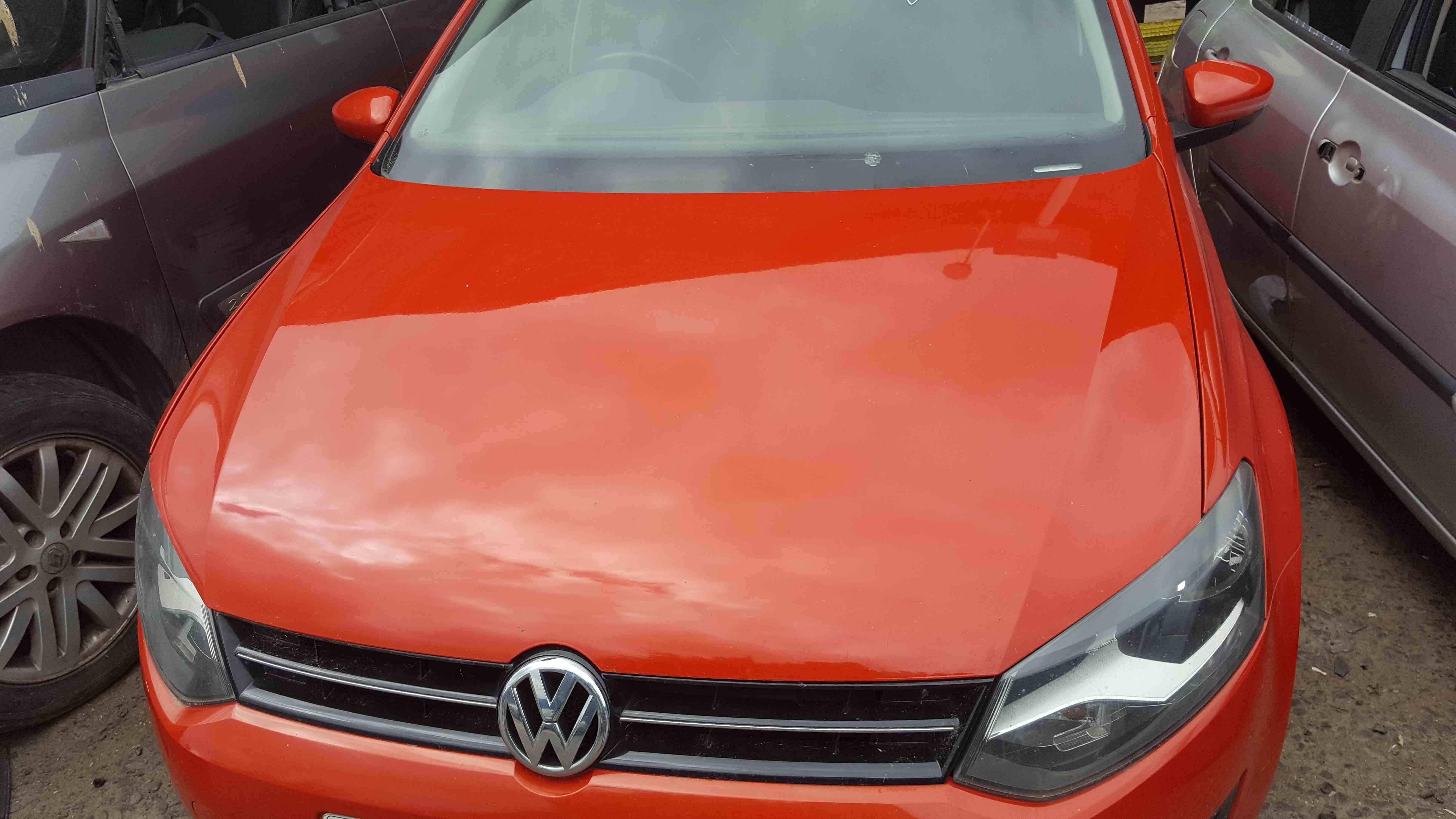 Volkswagen Polo 6R 2009-2014 Front Bonnet Orange LD2Z