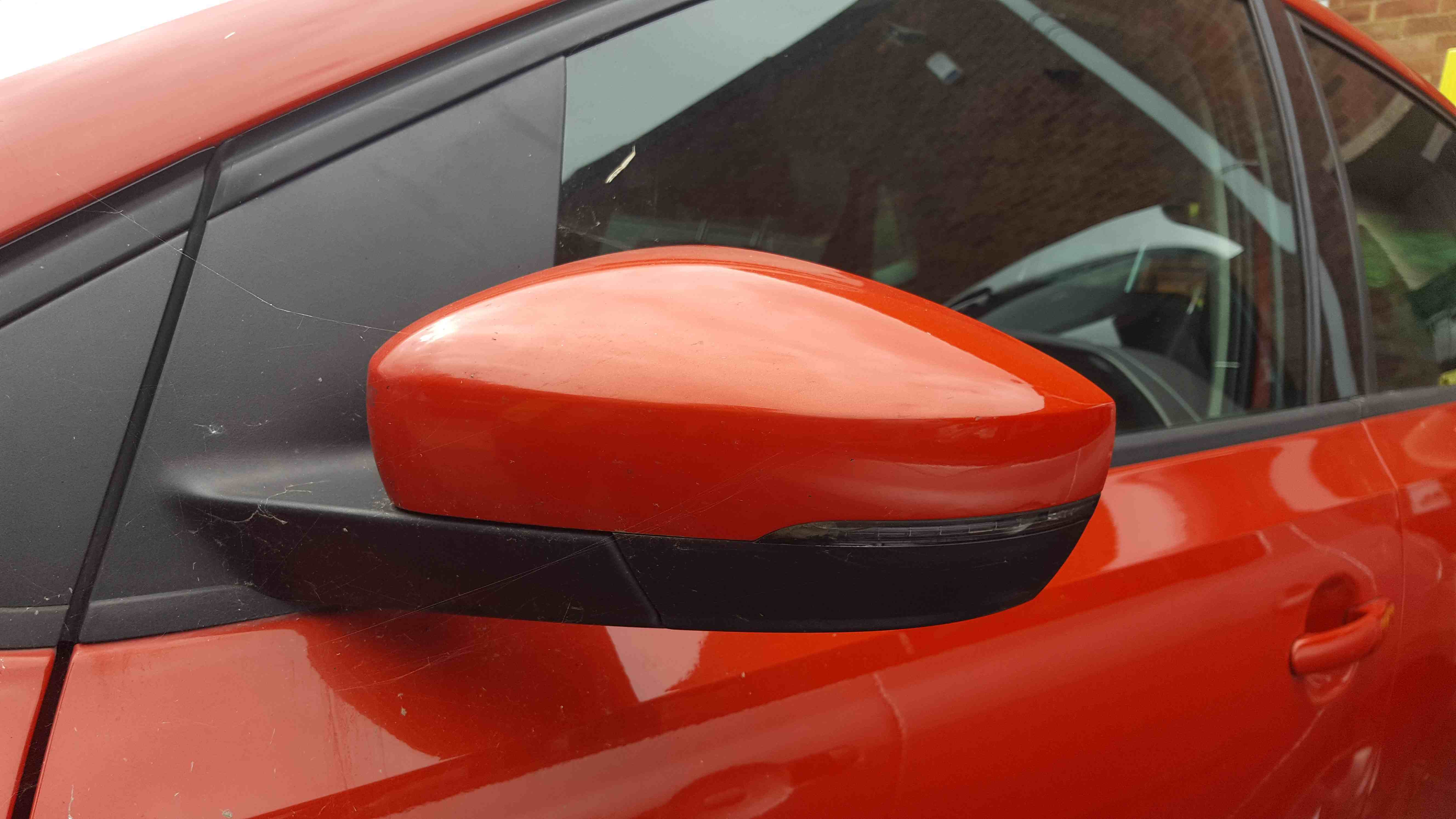 Volkswagen Polo 6R 2009-2014 Passenger NS Wing Mirror Orange LD2Z