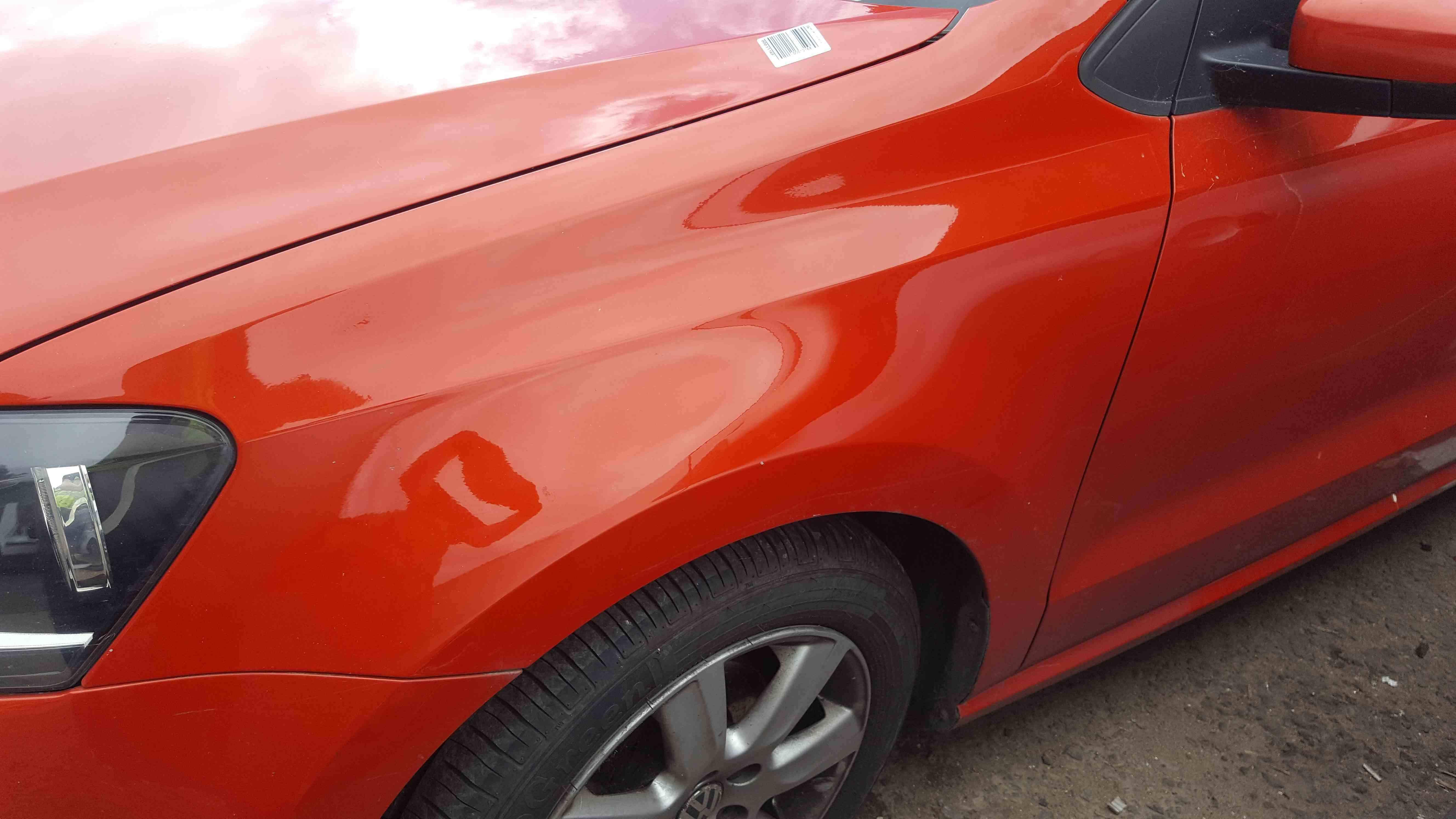 Volkswagen Polo 6R 2009-2014 Passenger NS Wing Orange LD2Z