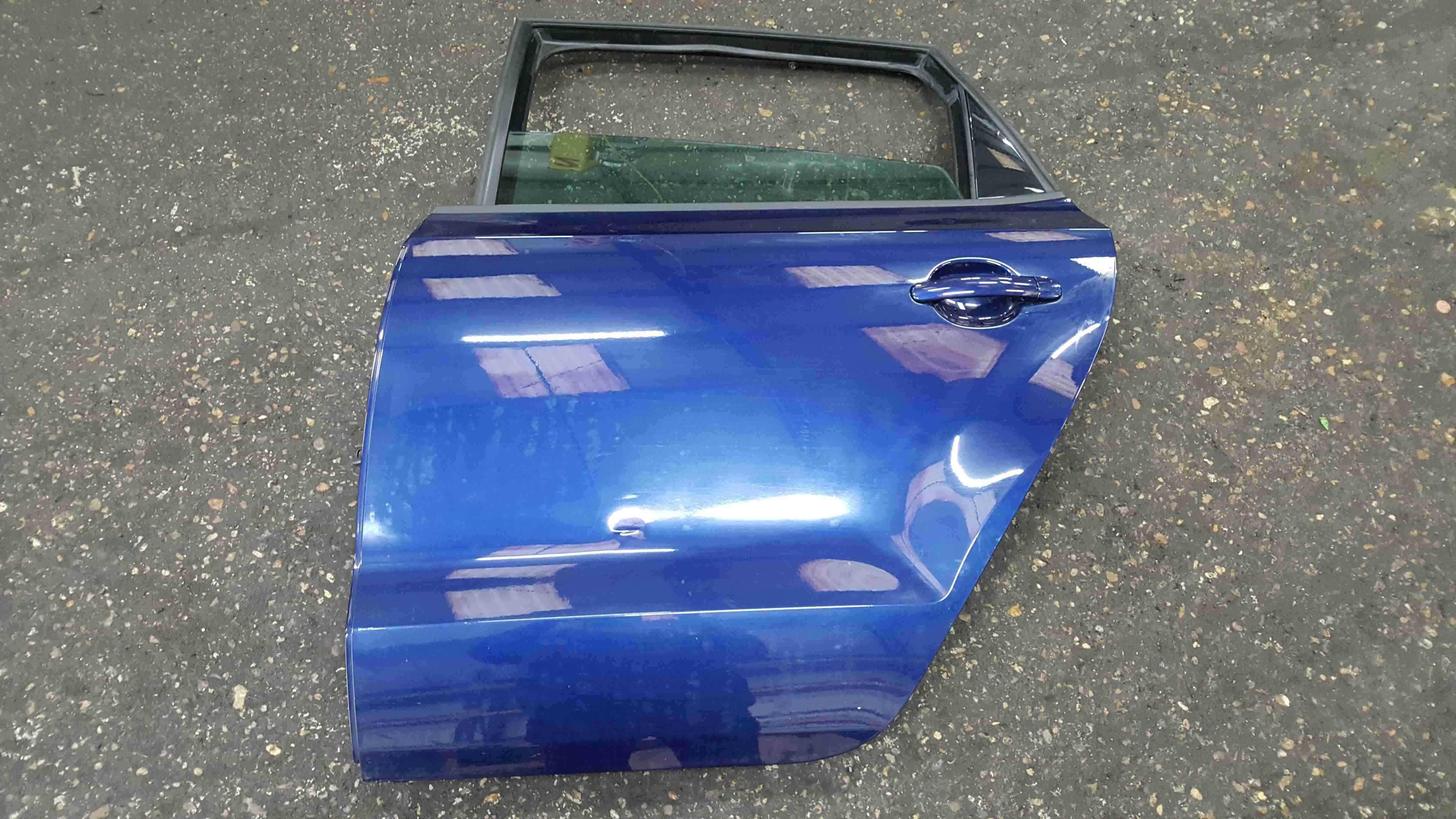 Volkswagen Polo 6R 2009-2014 Passenger NSR Rear Door Blue LD5Q 5dr
