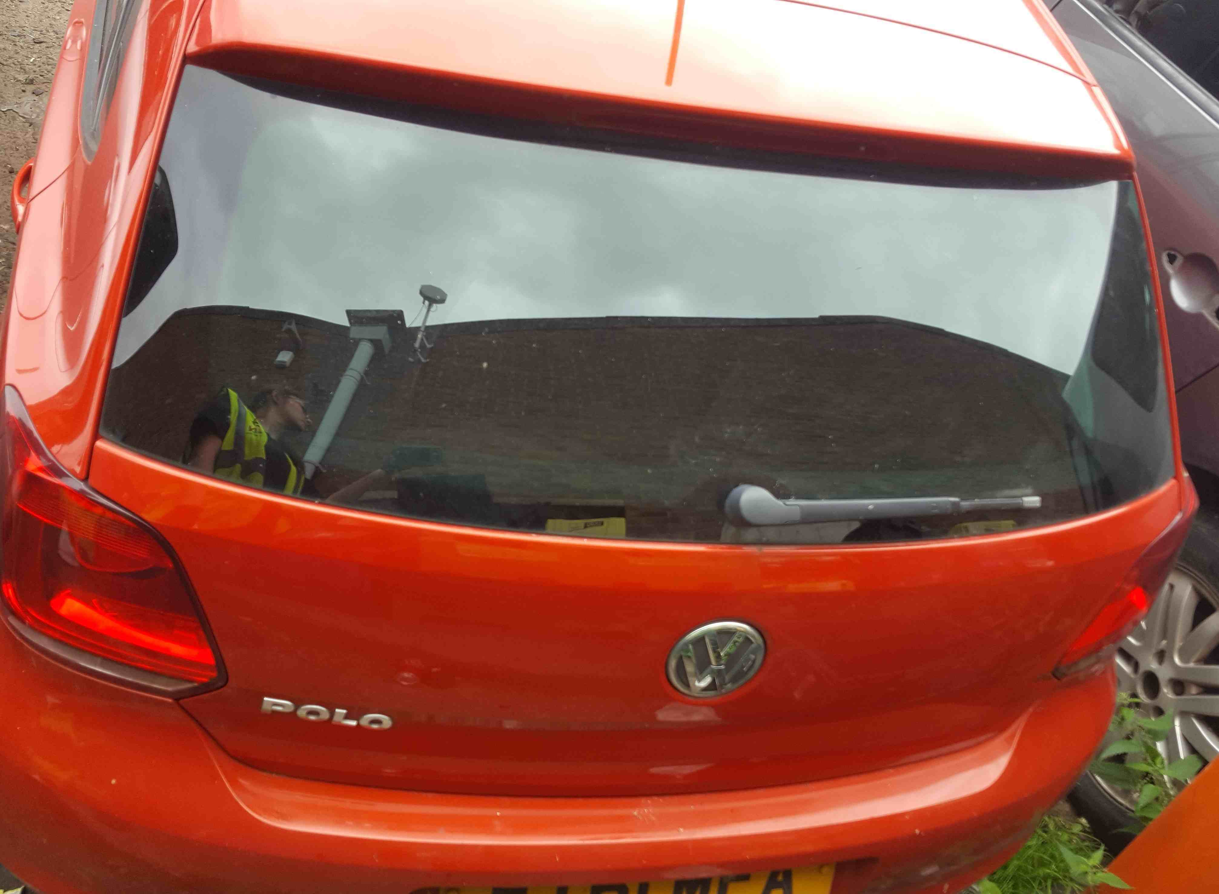 Volkswagen Polo 6R 2009-2014 Rear Tailgate Boot Orange LD2Z
