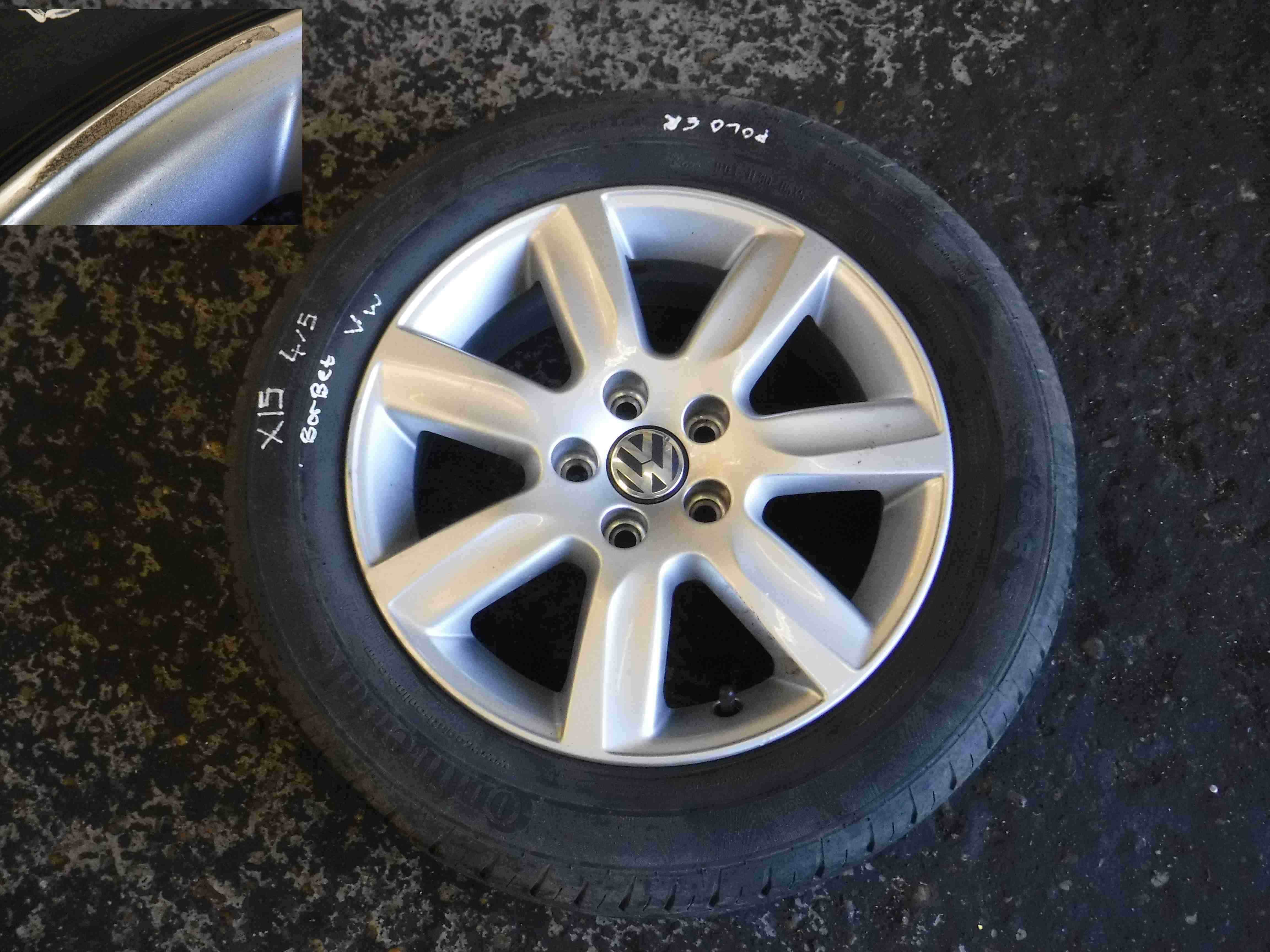 volkswagen polo 6r 2009 2015 borbet alloy wheel 15inch ebay on a picture of a 1964 chevy c10 fuse box 15 mag rims on a polo classic