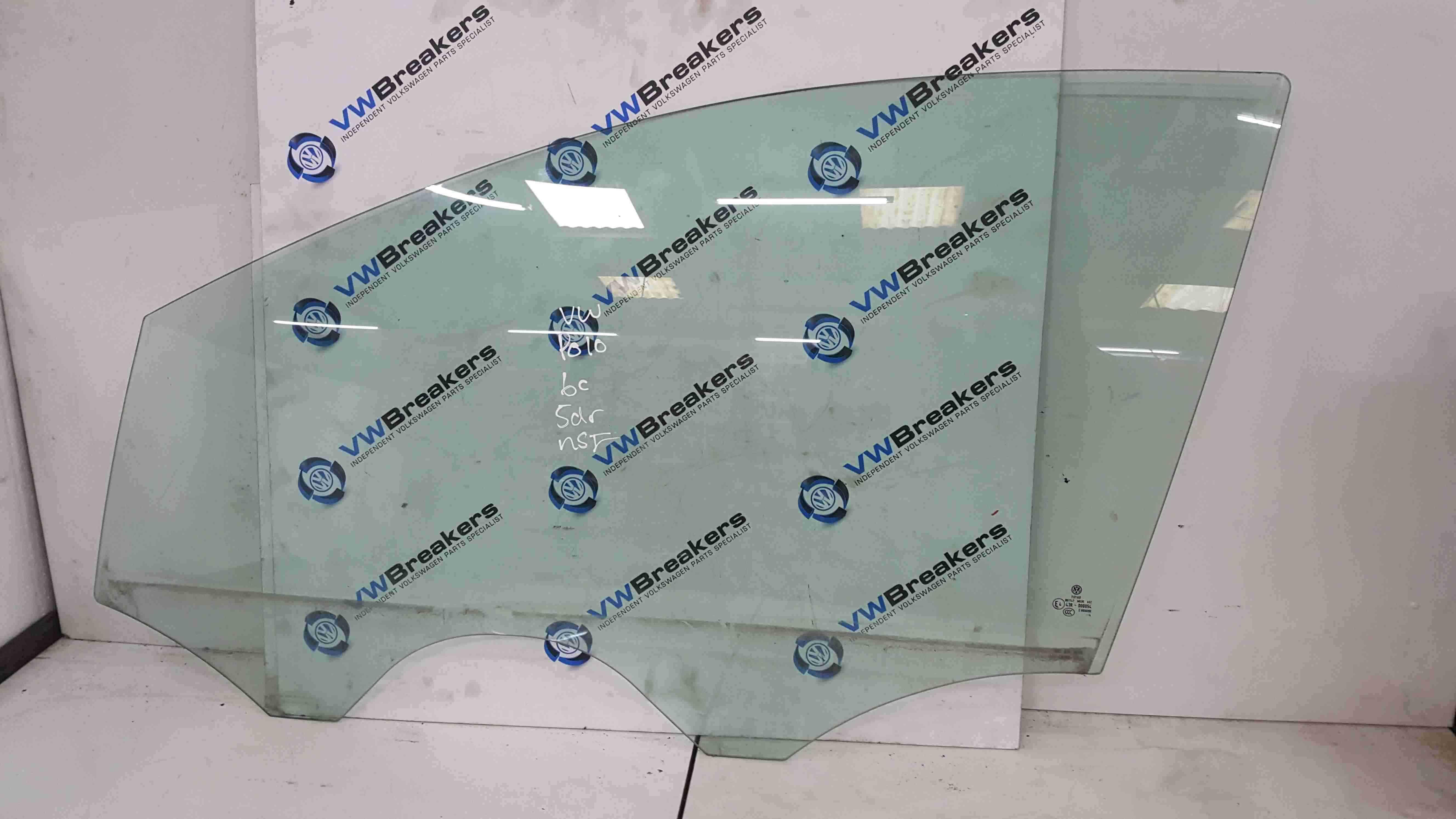 Volkswagen Polo 6c 2014-2017 Passenger NSF Front Window Glass 5dr