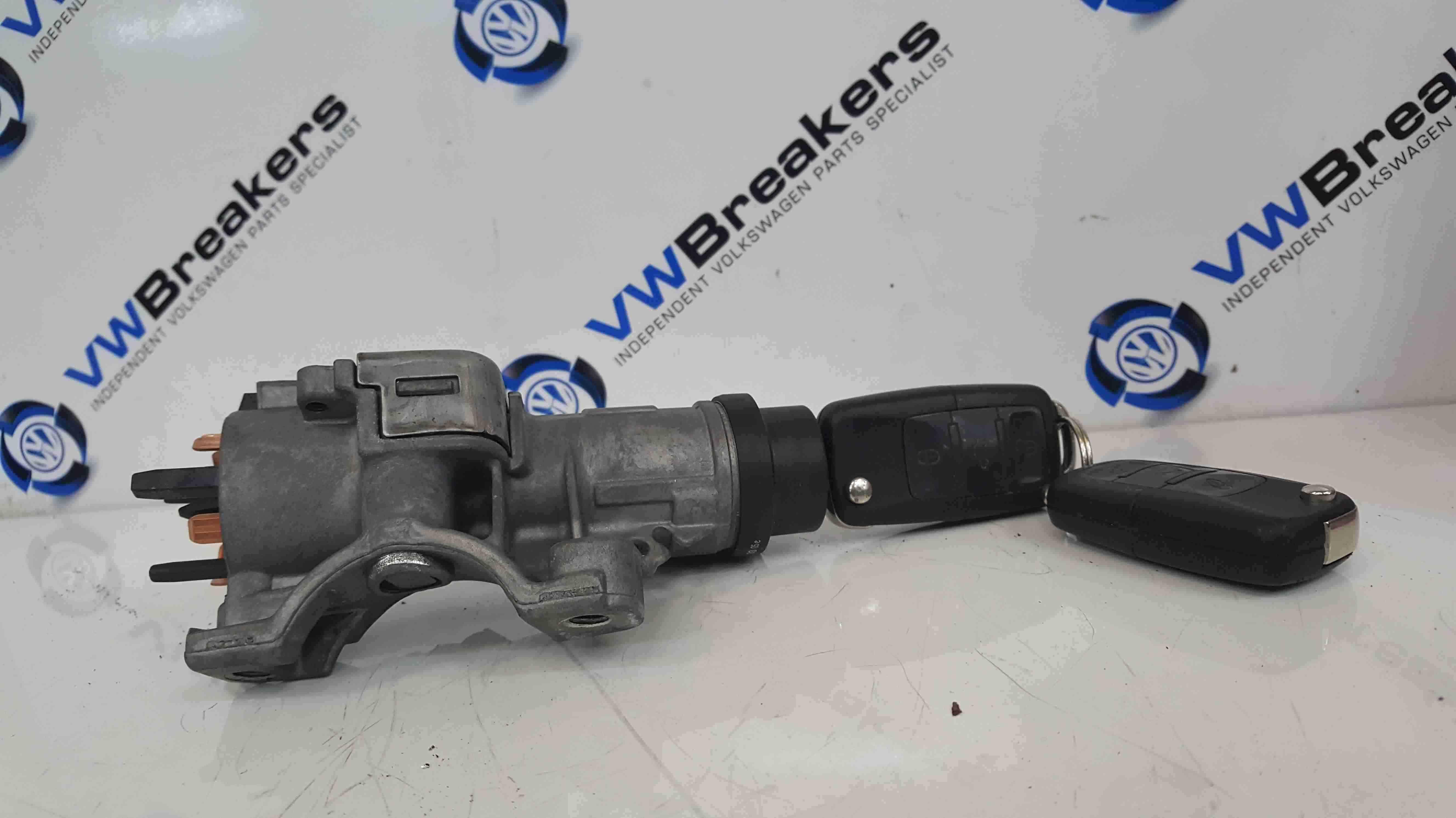 Volkswagen Polo 9N3 2006-2008 Ignition Barrel + 2 Keys 4B0905851N