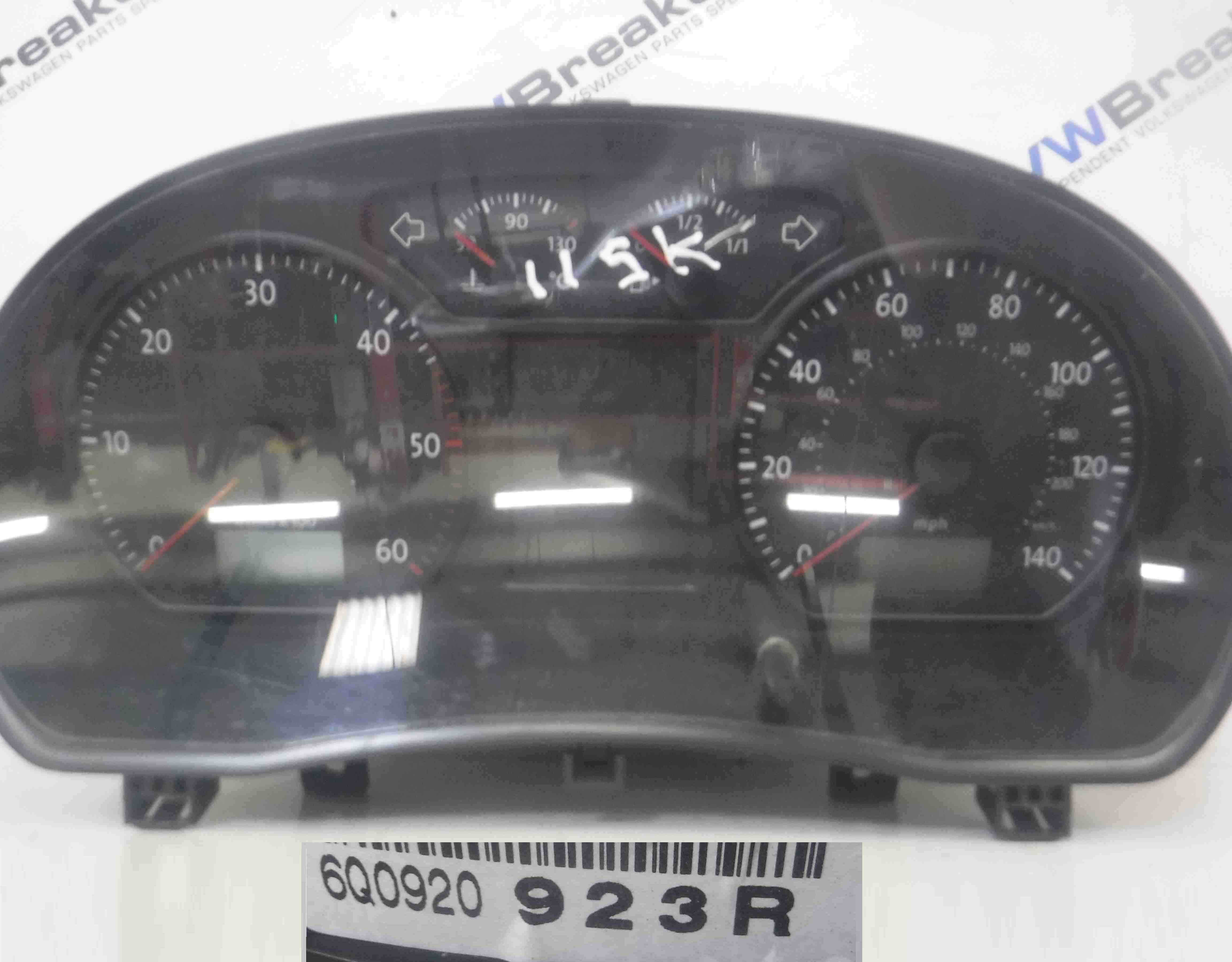 Volkswagen Polo 9N3 2006-2008 Instrument Panel Clocks Cluster 113K  6Q0920923R