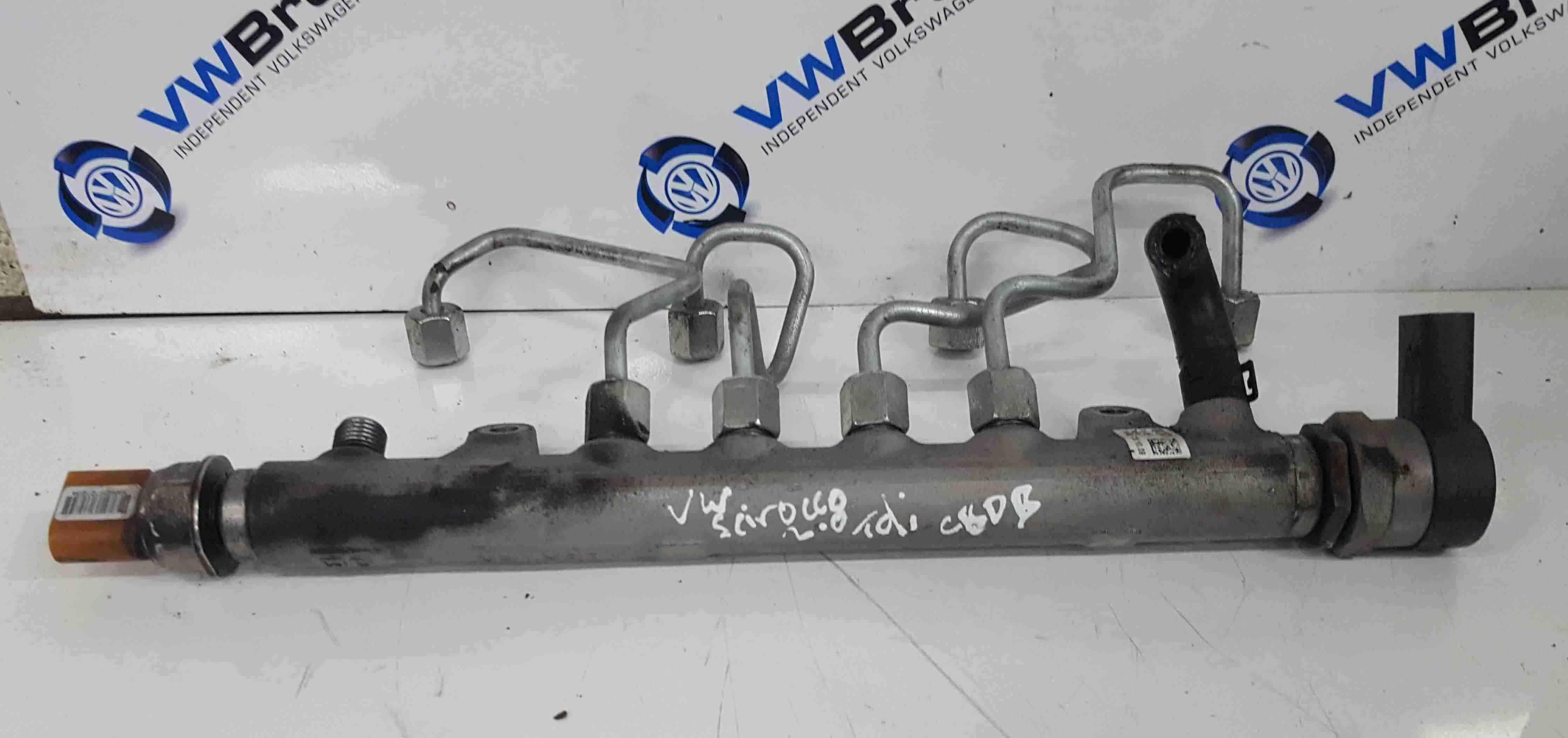 Volkswagen Scirocco 2008-2014 2.0 TDi Fuel Rail + Sensor CBDB