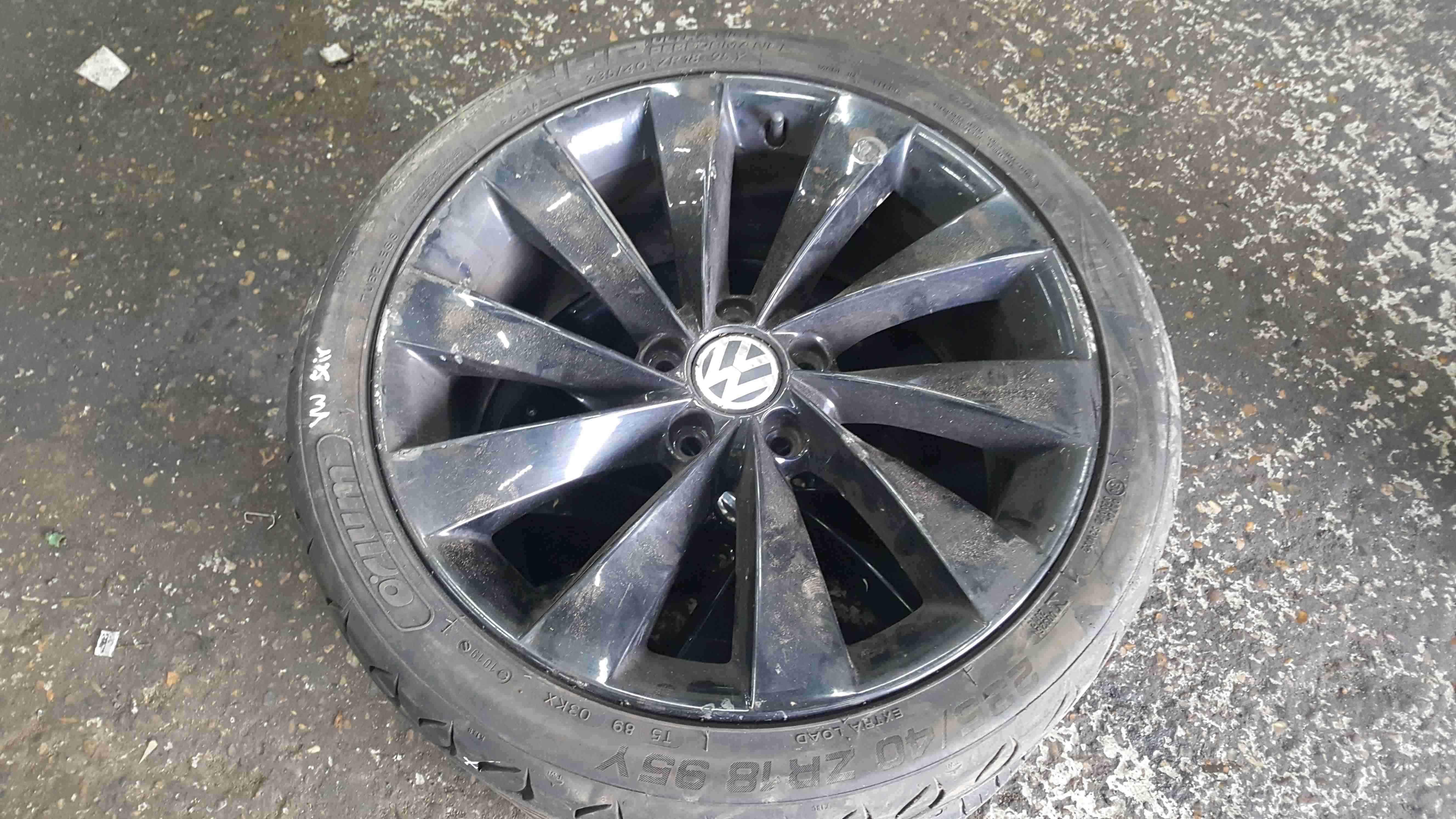 Volkswagen Scirocco 2008-2014 Black Turbin Alloy Wheel 18inch 3C8501025D
