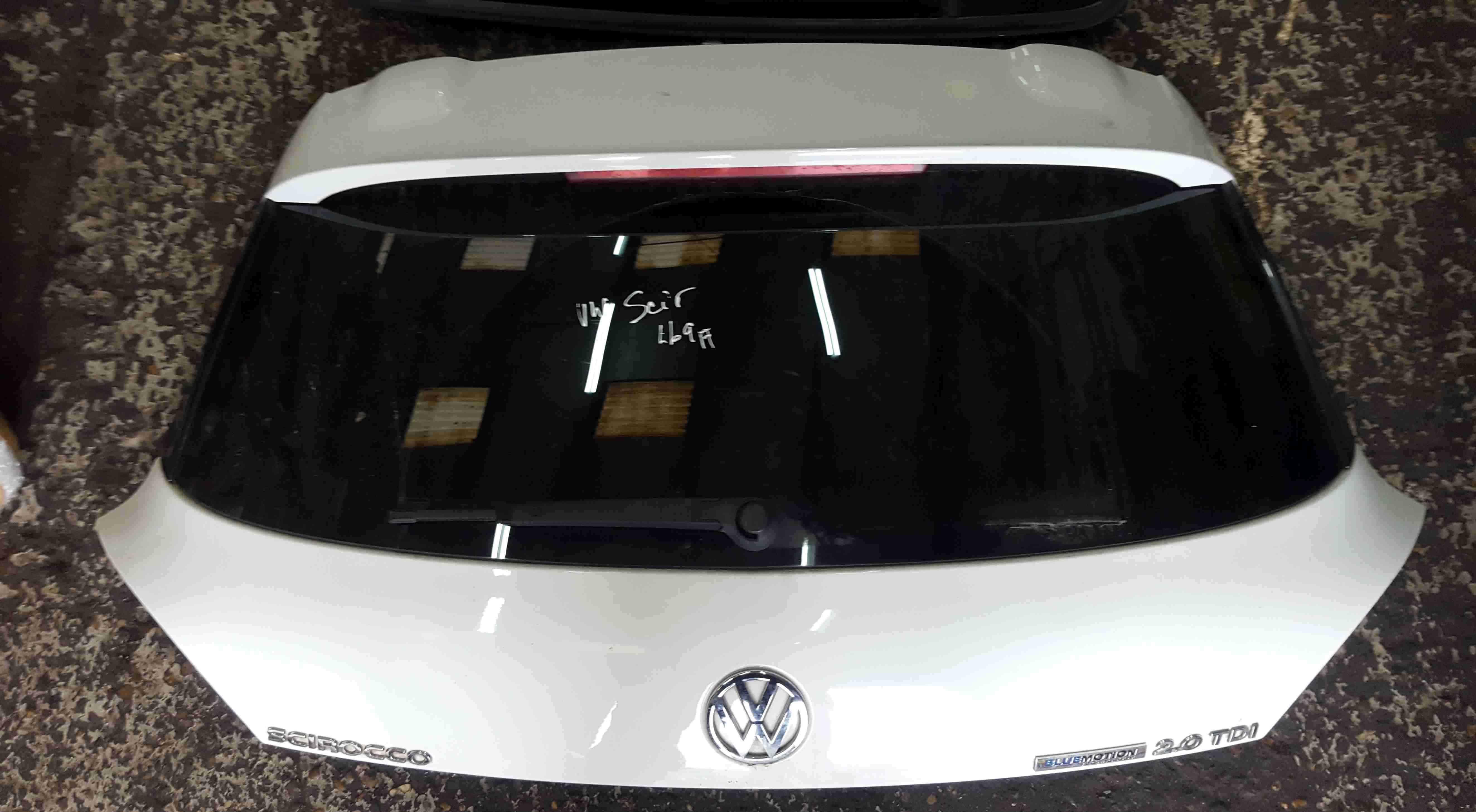 Volkswagen Scirocco 2008-2014 Rear Tailgate Boot White LB9A