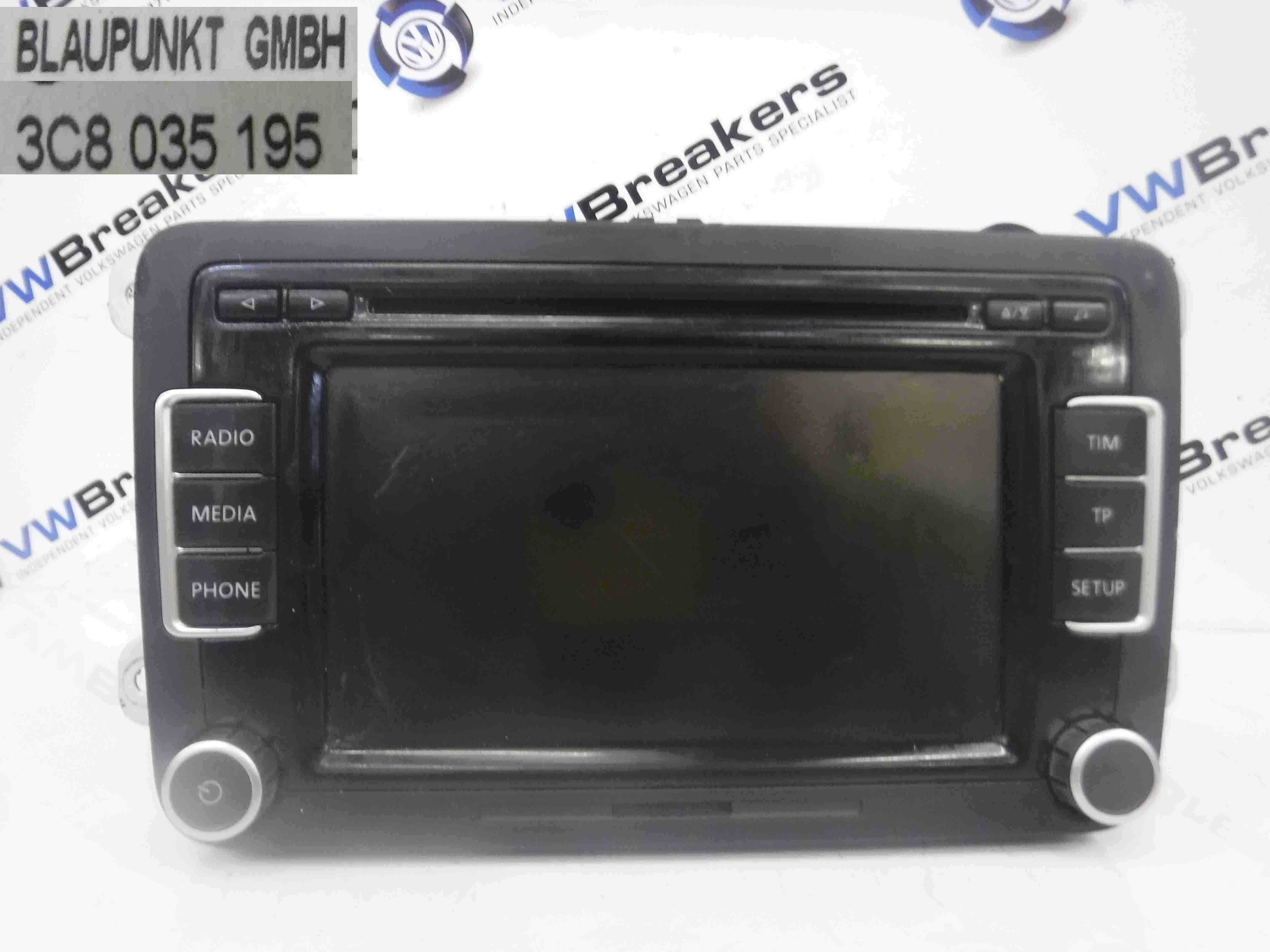 volkswagen scirocco 2008 2016 dab cd player radio. Black Bedroom Furniture Sets. Home Design Ideas