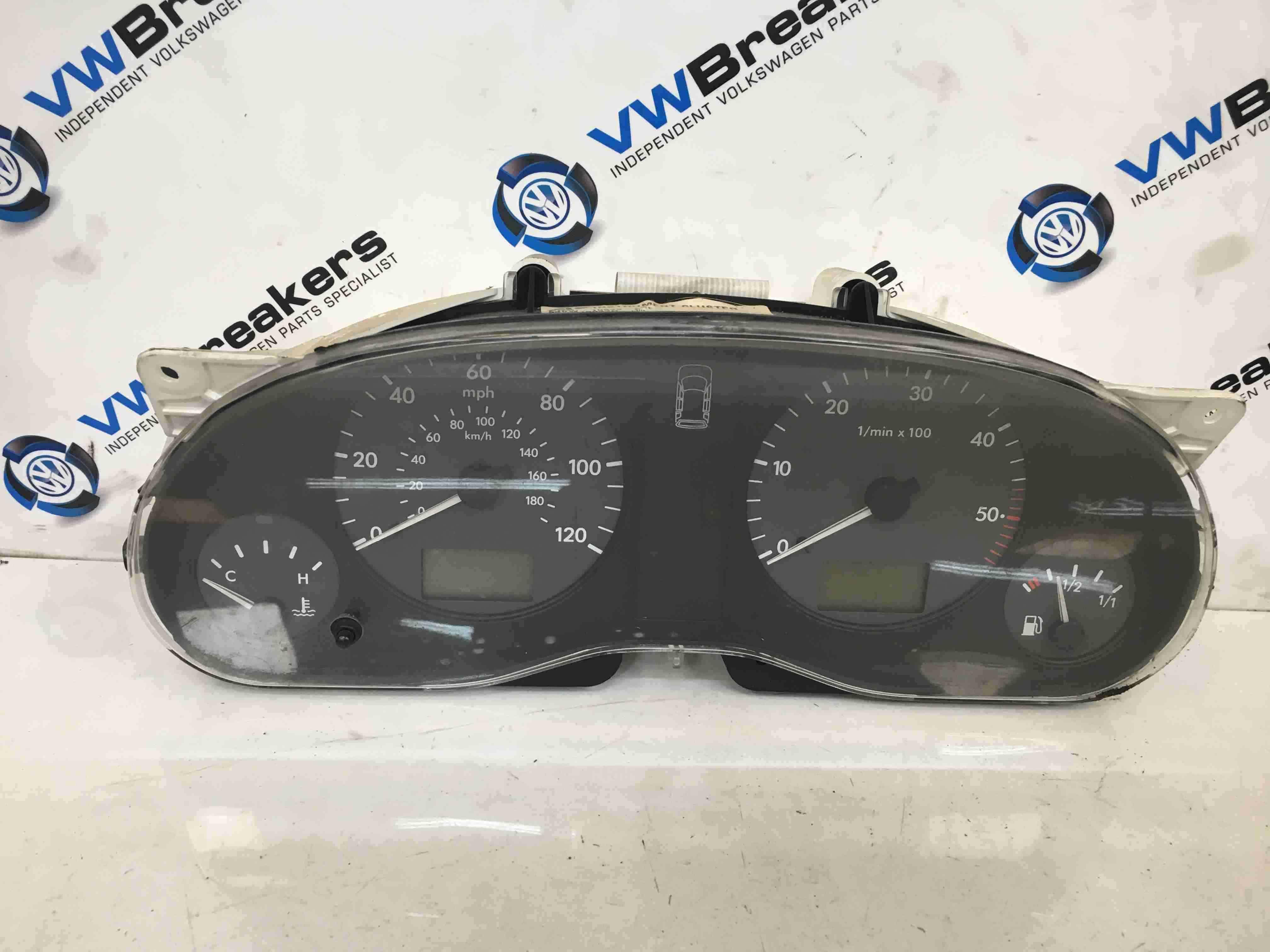 Volkswagen Sharan 1995-2003 Instrument Panel Clocks Dials Gauges Cluster 198K
