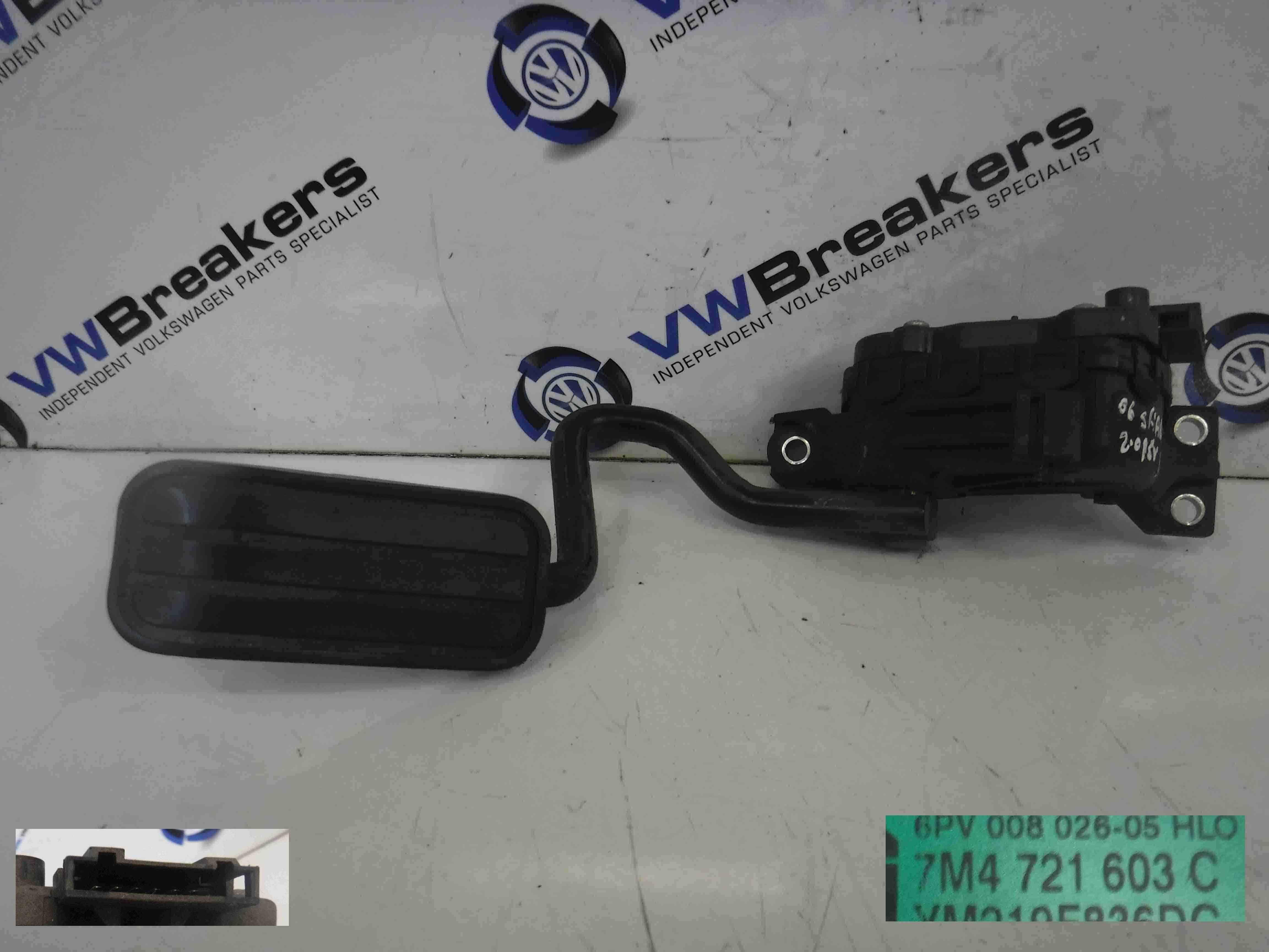 Volkswagen Sharan 2003-2009 Accelerator Pedal Potentiometer 7M4721603D